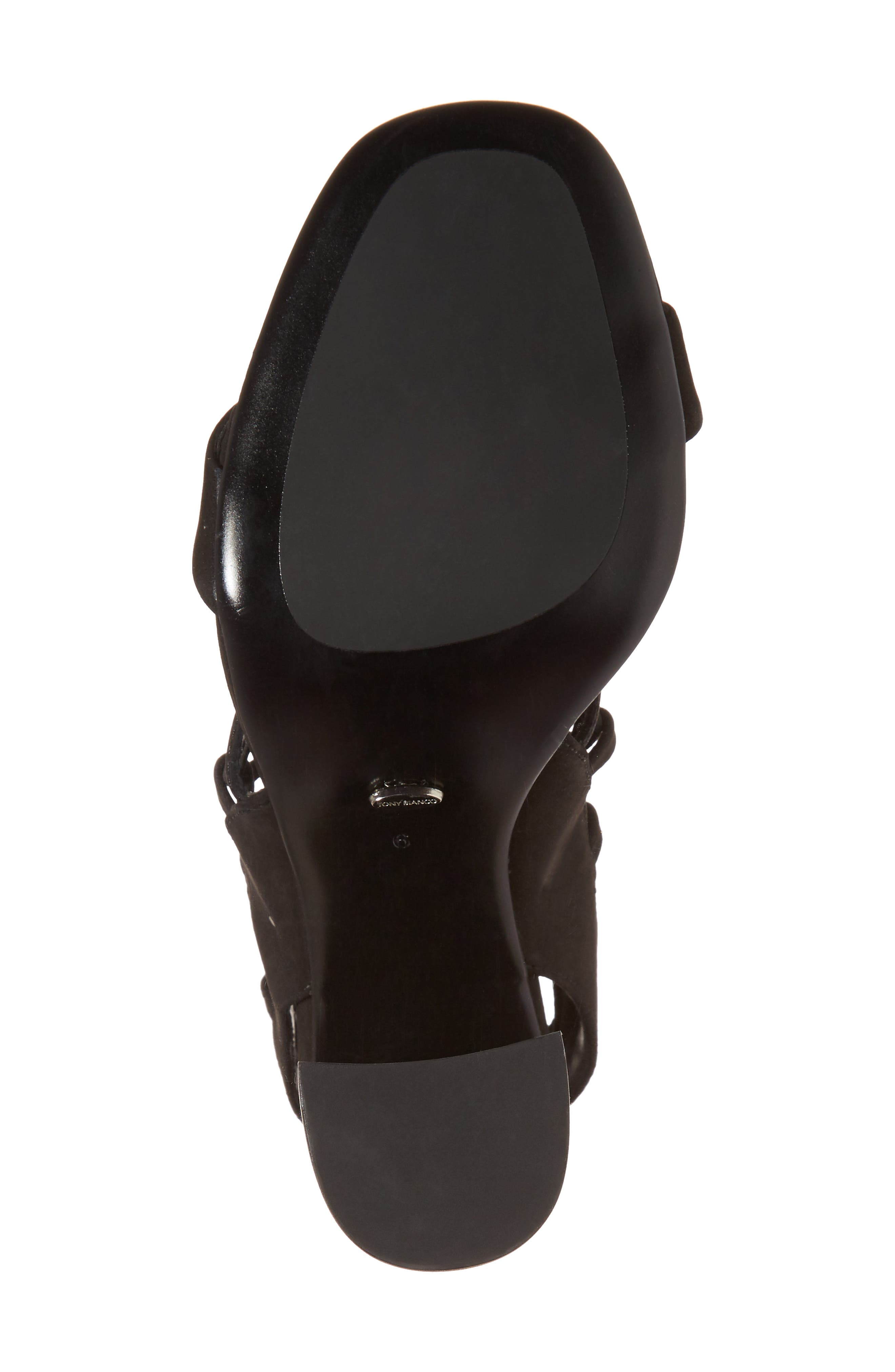 Dani Ghillie Flared Heel Sandal,                             Alternate thumbnail 6, color,                             Black Phoenix Nubuck Leather