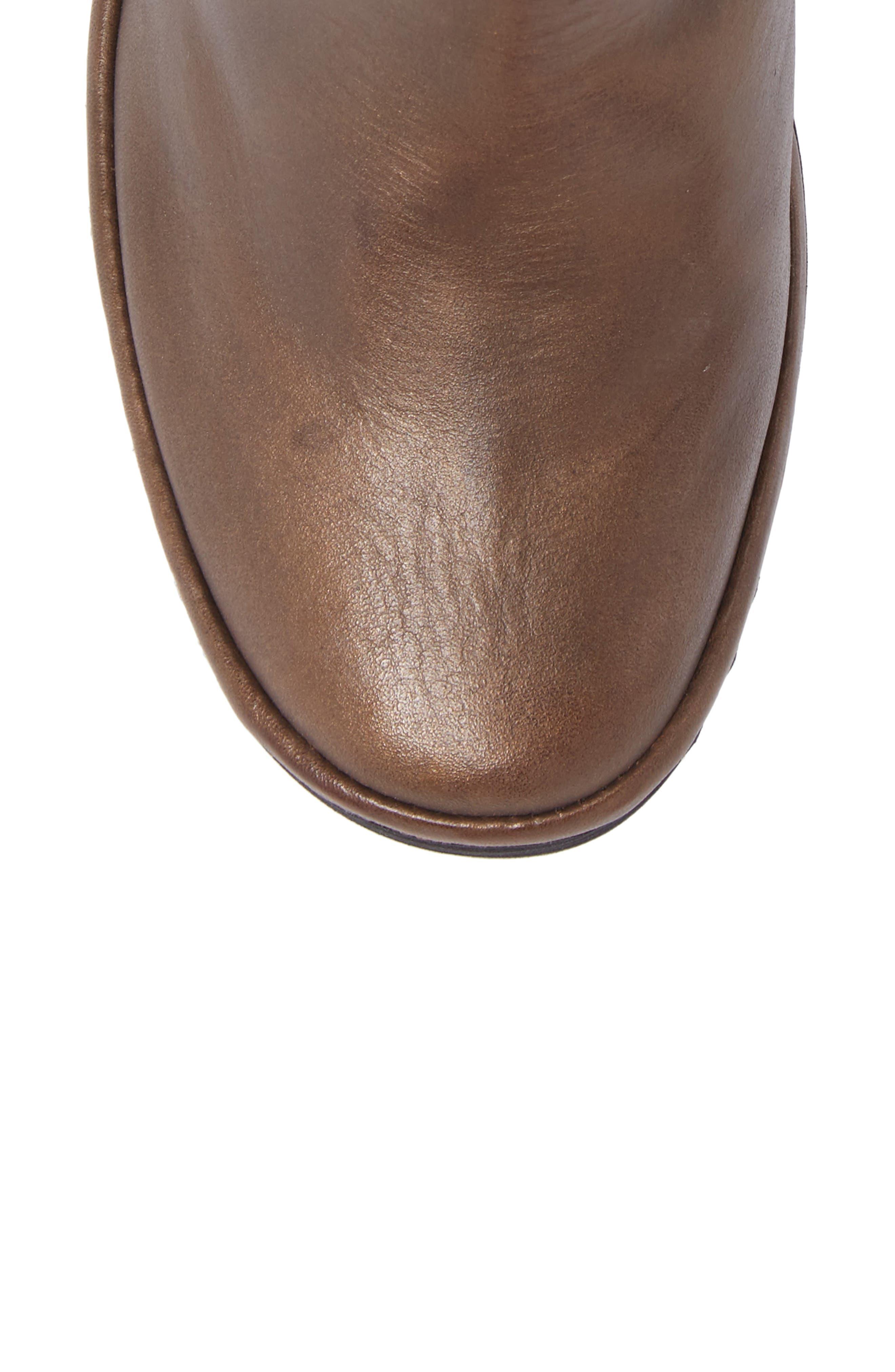 'Yava' Bootie,                             Alternate thumbnail 5, color,                             Olive Grace Leather