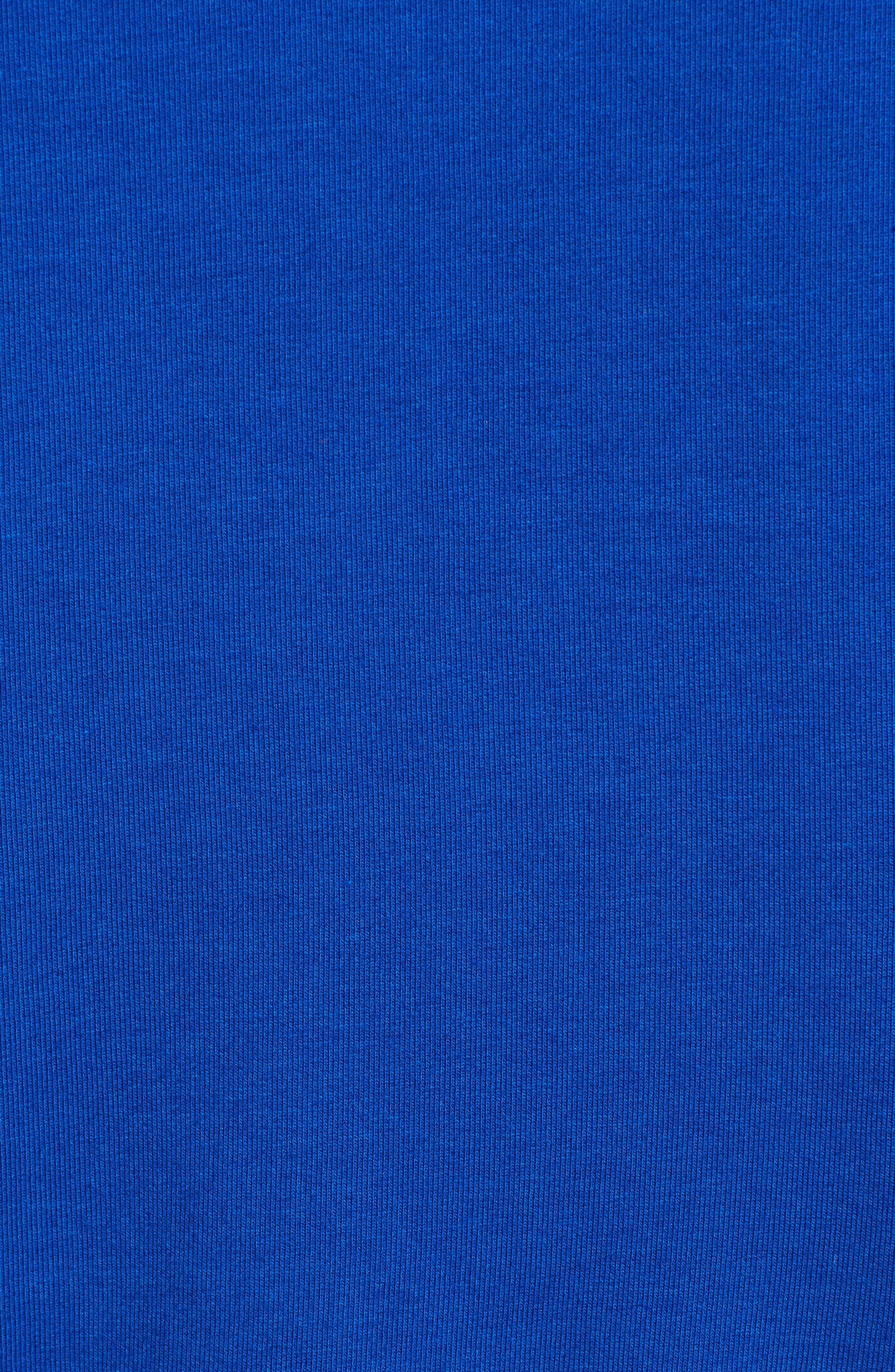 Ruffle Detail Sweatshirt,                             Alternate thumbnail 5, color,                             Blue Surf