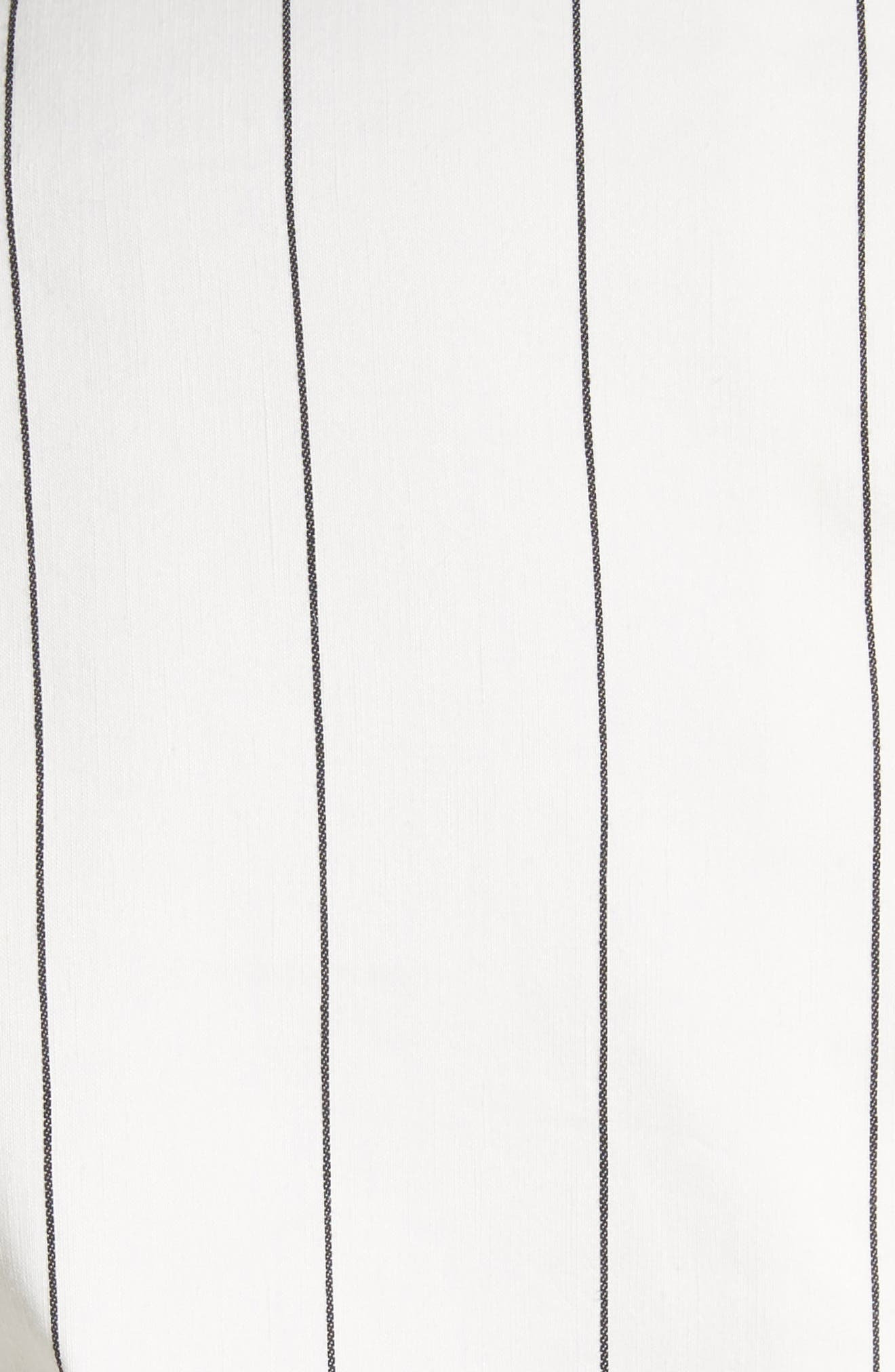 Pinstripe Blazer,                             Alternate thumbnail 5, color,                             Ivory Multi