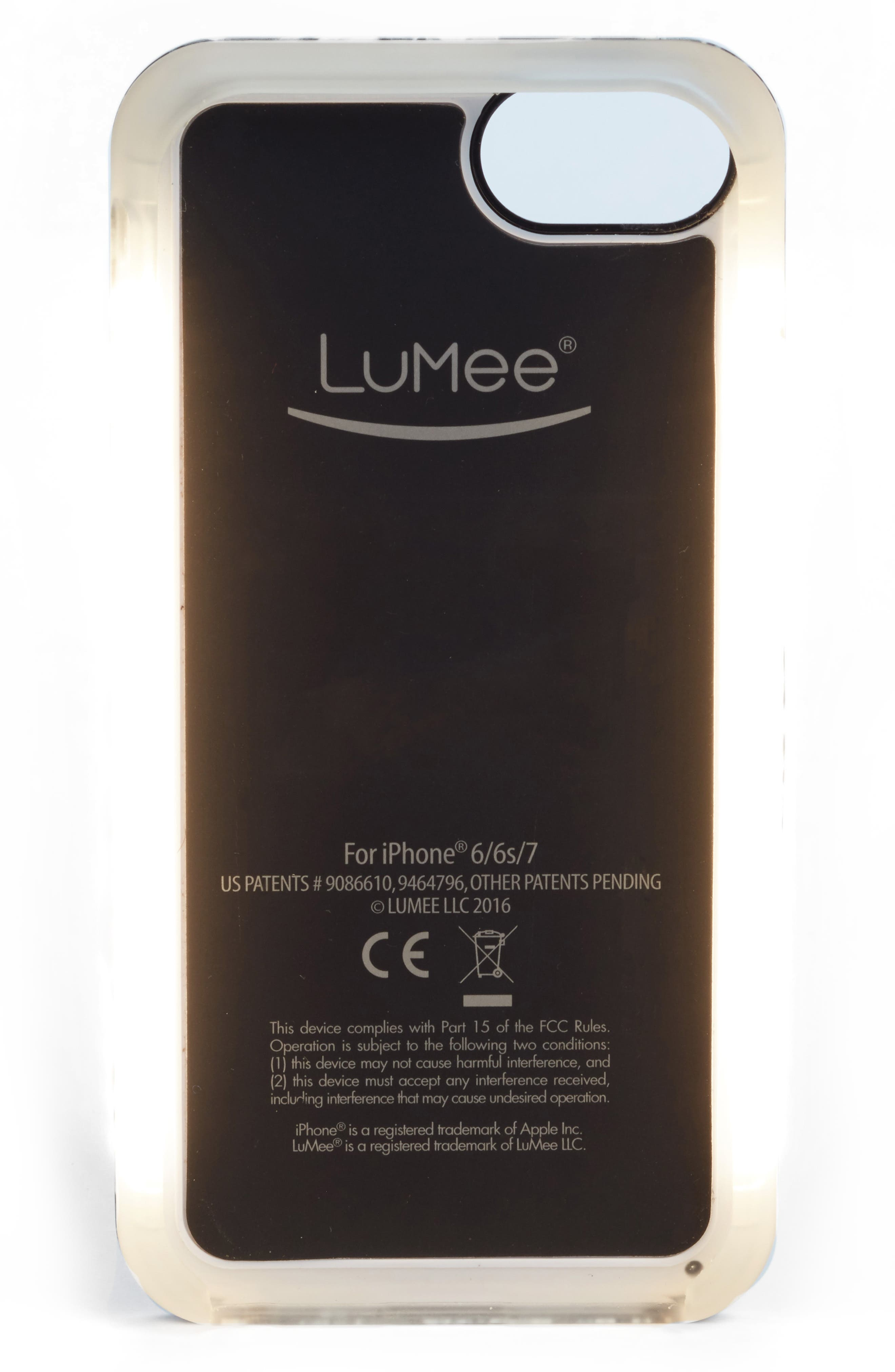 Alternate Image 2  - LuMee Duo LED Lighted iPhone 6/6s/7/8 & 6/6s/7/8 Plus Case (Nordstrom Exclusive)