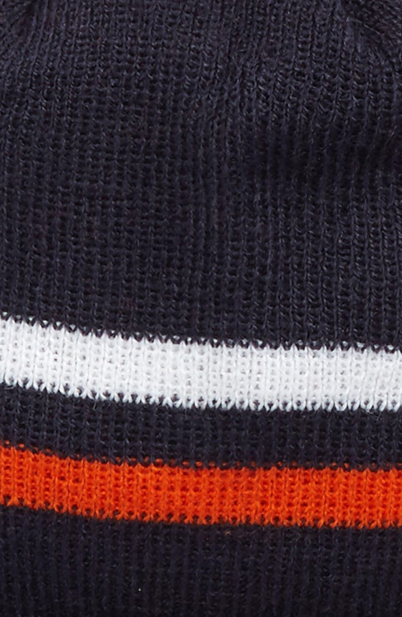 NFL Logo Pom Beanie & Tech Gloves Set,                             Alternate thumbnail 3, color,                             Bears