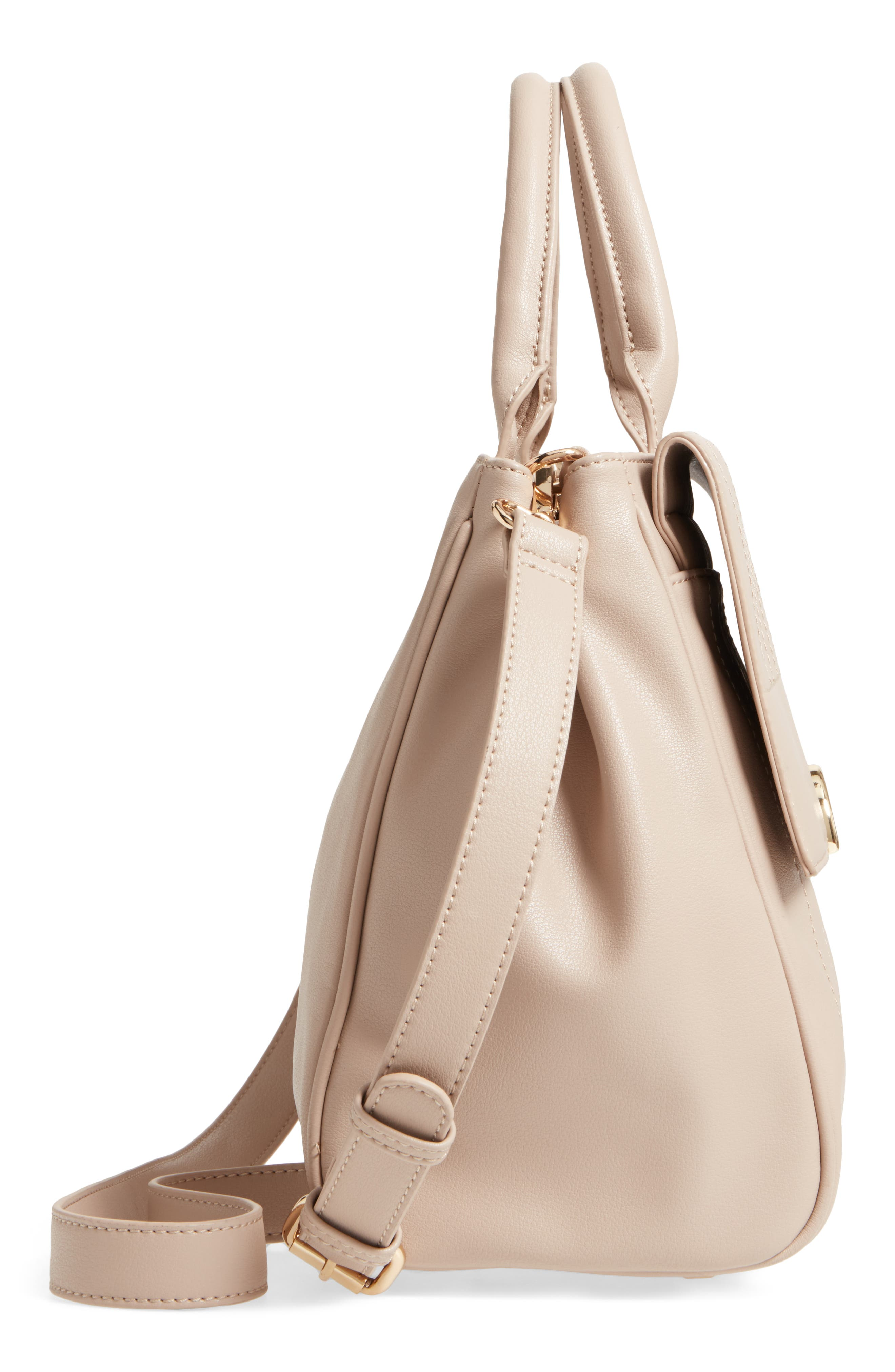 Alternate Image 5  - Sole Society Tracy Quilted Faux Leather Satchel