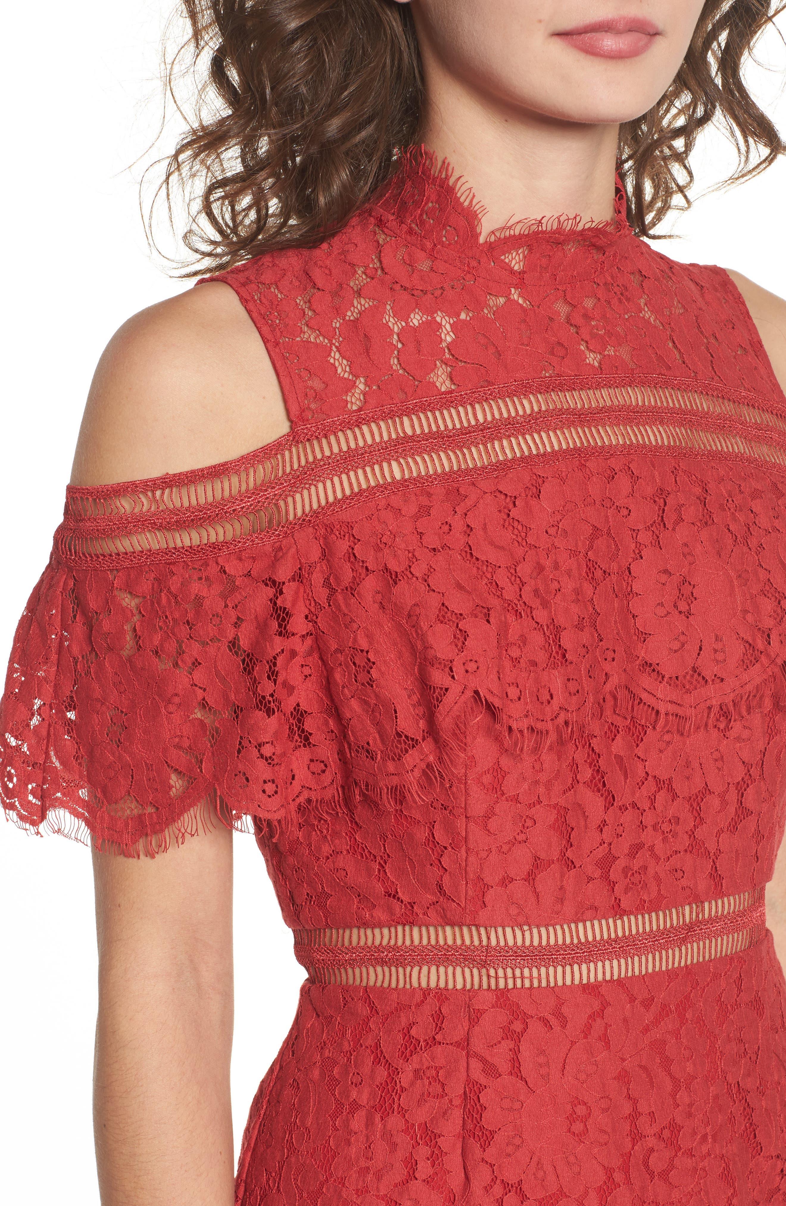 Alternate Image 4  - Keepsake the Label Butterfly Lace Cold Shoulder Dress