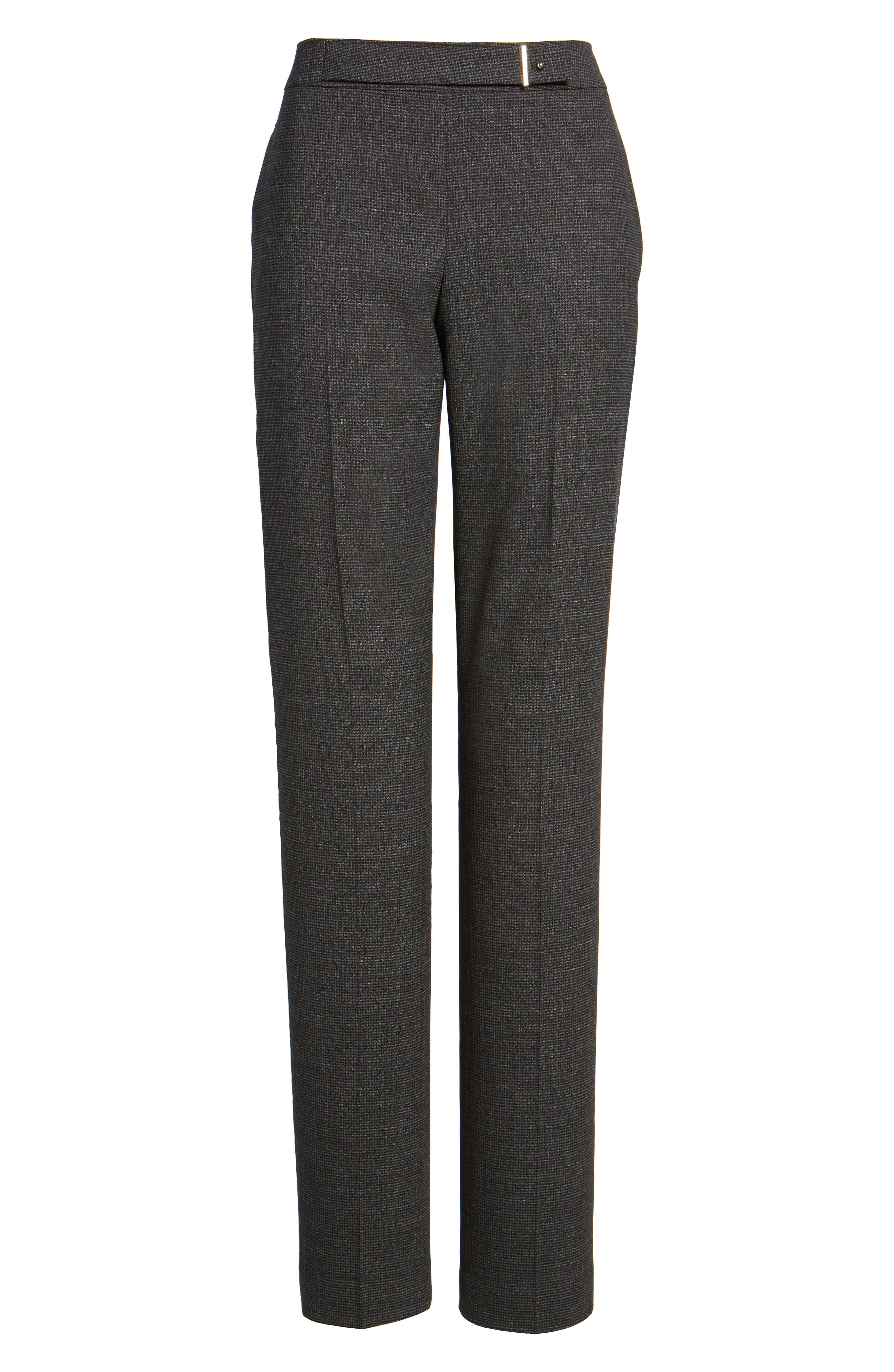 Alternate Image 6  - BOSS Tafena Check Stretch Wool Pants