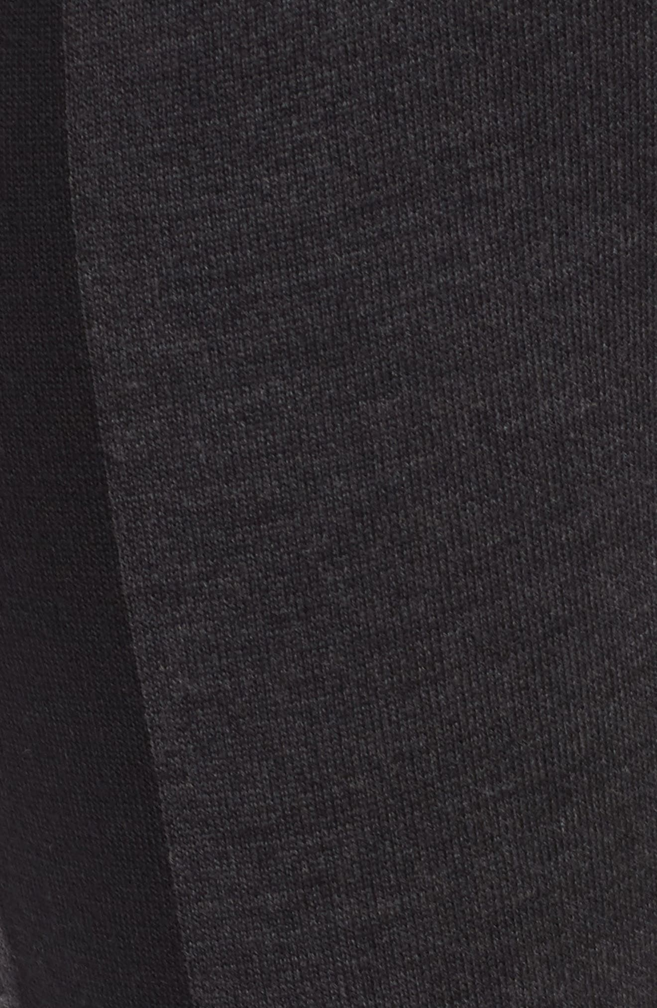 Colorblock Leggings,                             Alternate thumbnail 5, color,                             Charcoal Black