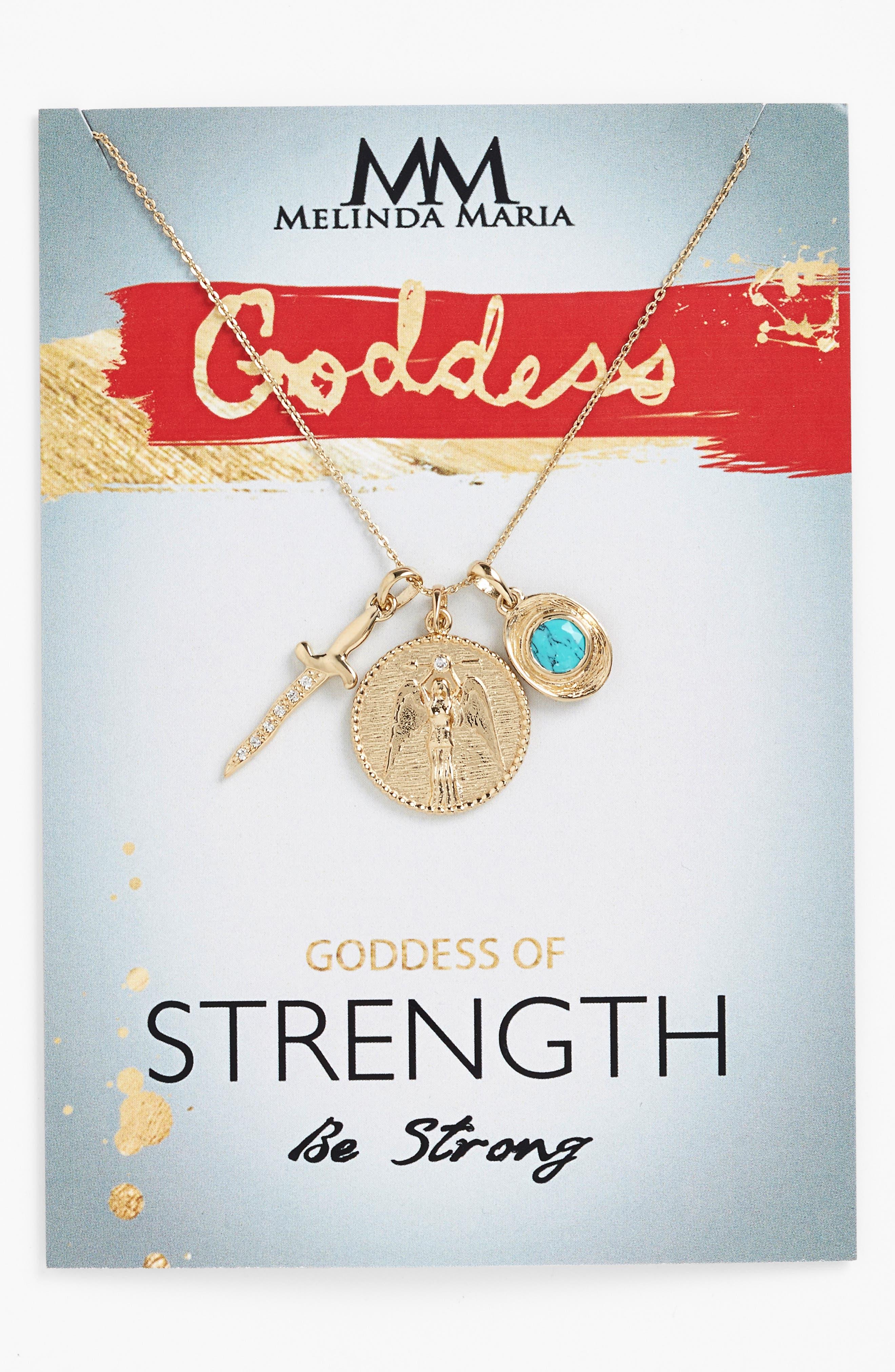 Alternate Image 2  - Melinda Maria Goddess of Strength Cluster Pendant Necklace
