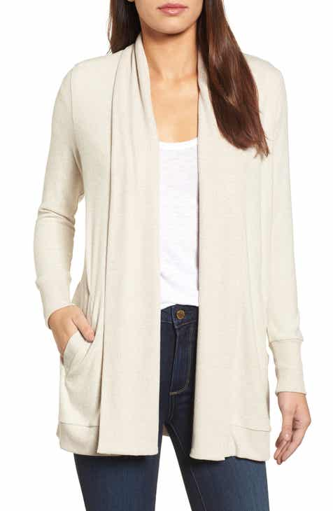 aa06bff585e Gibson Cozy Ribbed Cardigan (Regular   Petite)