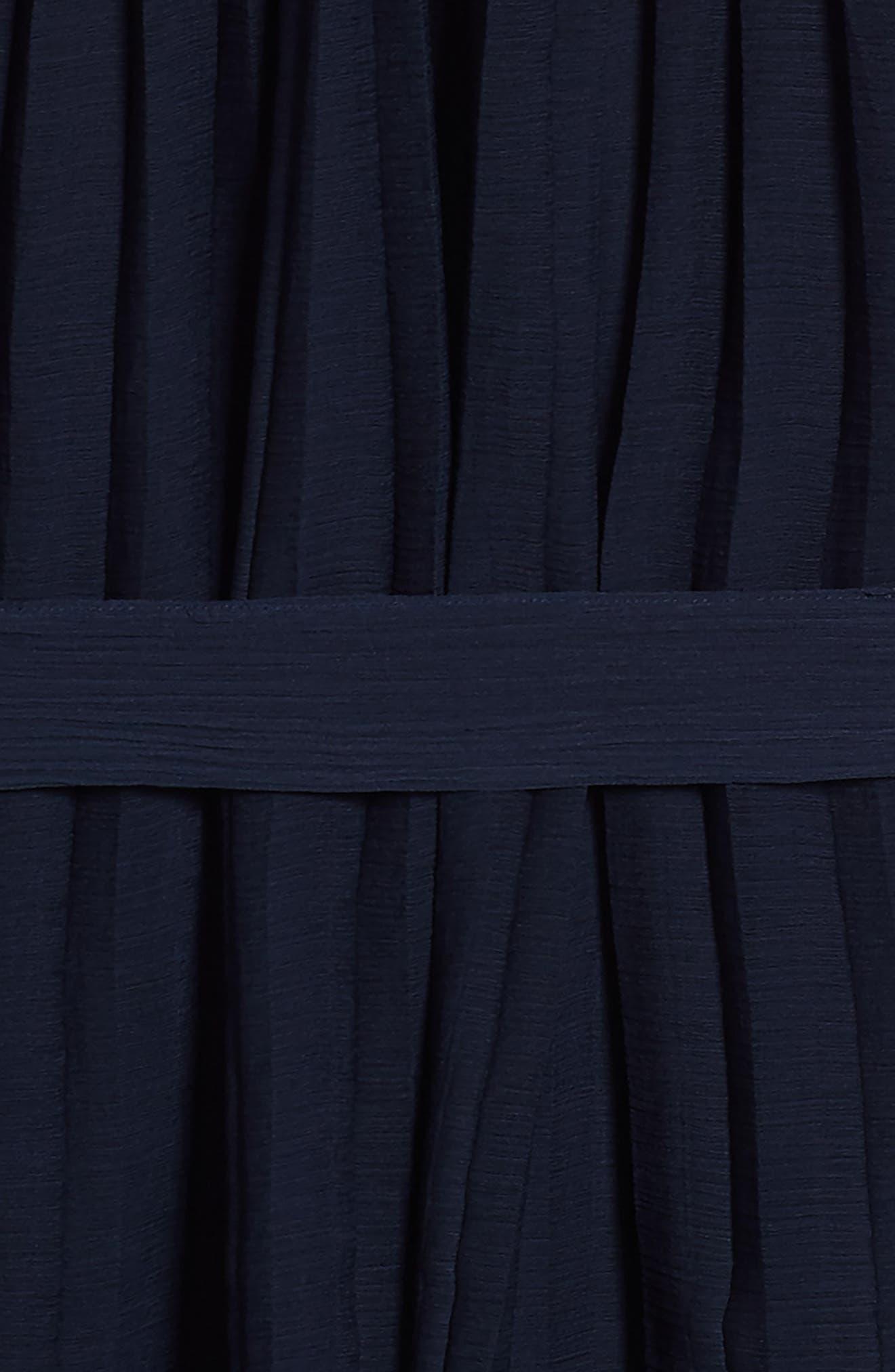 Stefanie Pleated Dress,                             Alternate thumbnail 3, color,                             Navy