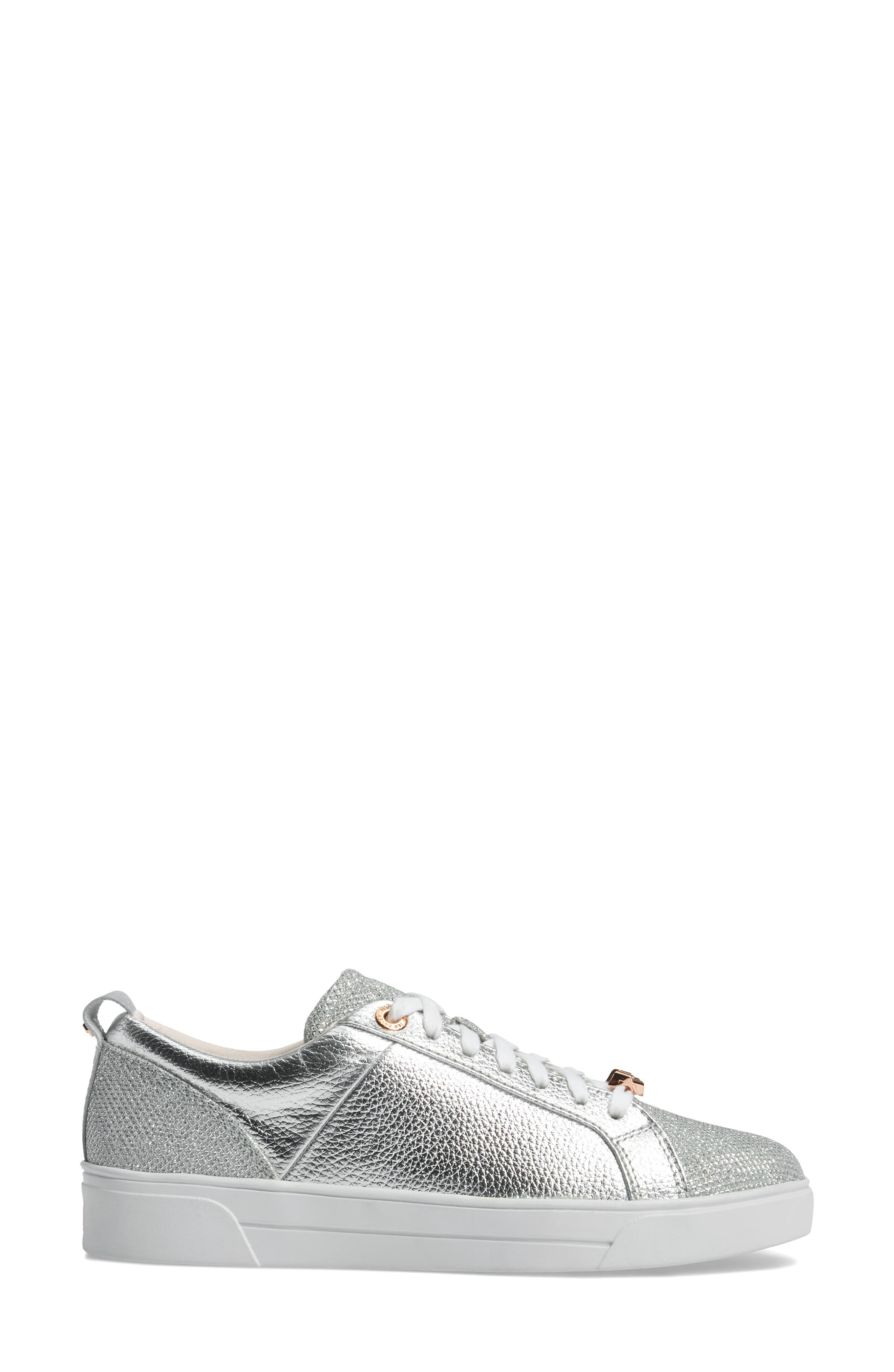 Kulei Sneaker,                             Alternate thumbnail 4, color,                             Silver Leather