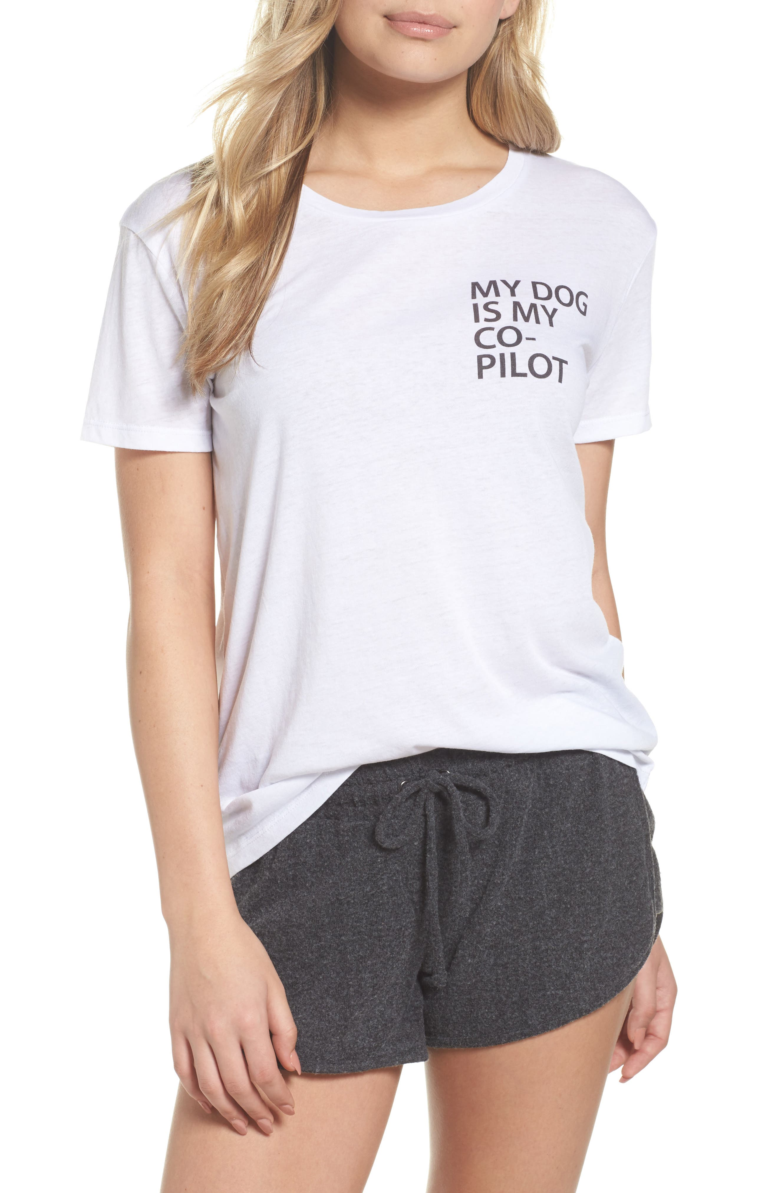 My Dog is My Co-Pilot Tee,                             Main thumbnail 1, color,                             White
