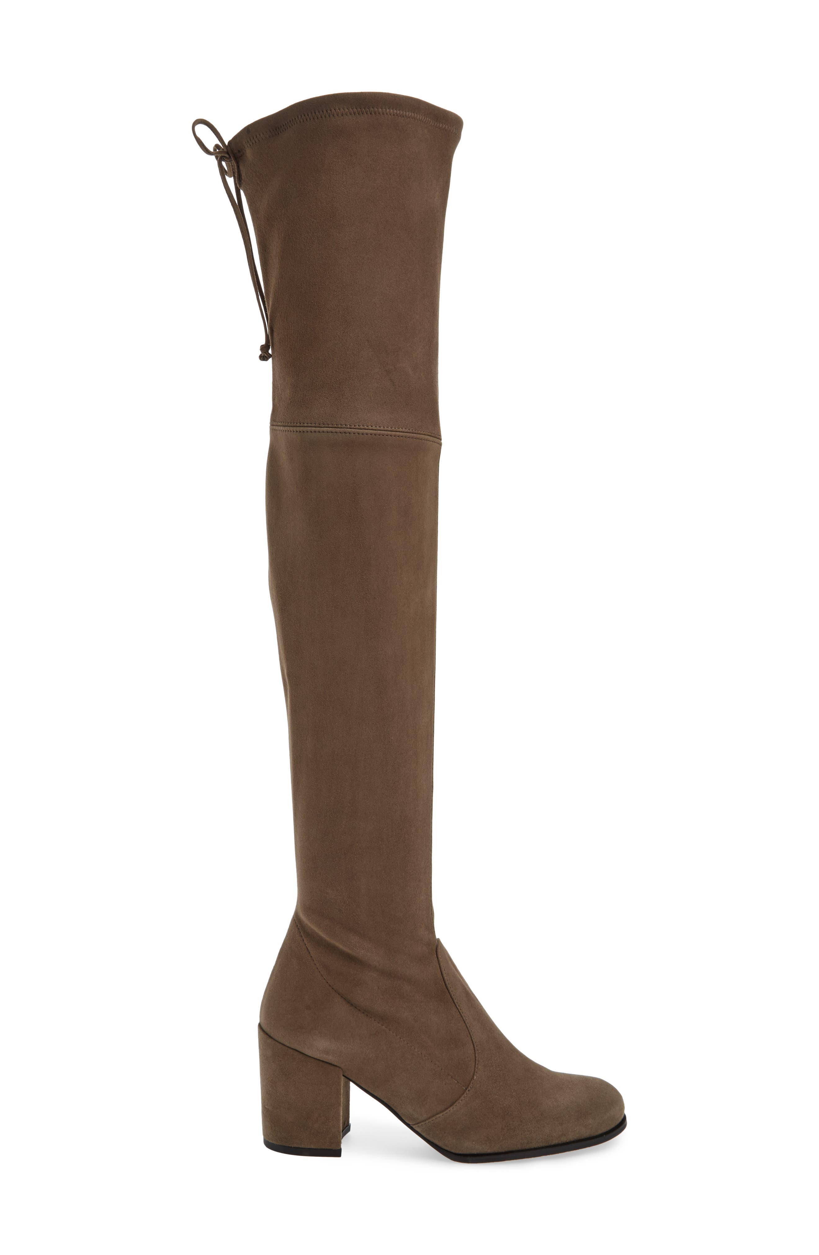 Tieland Over the Knee Boot,                             Alternate thumbnail 3, color,                             Praline Suede
