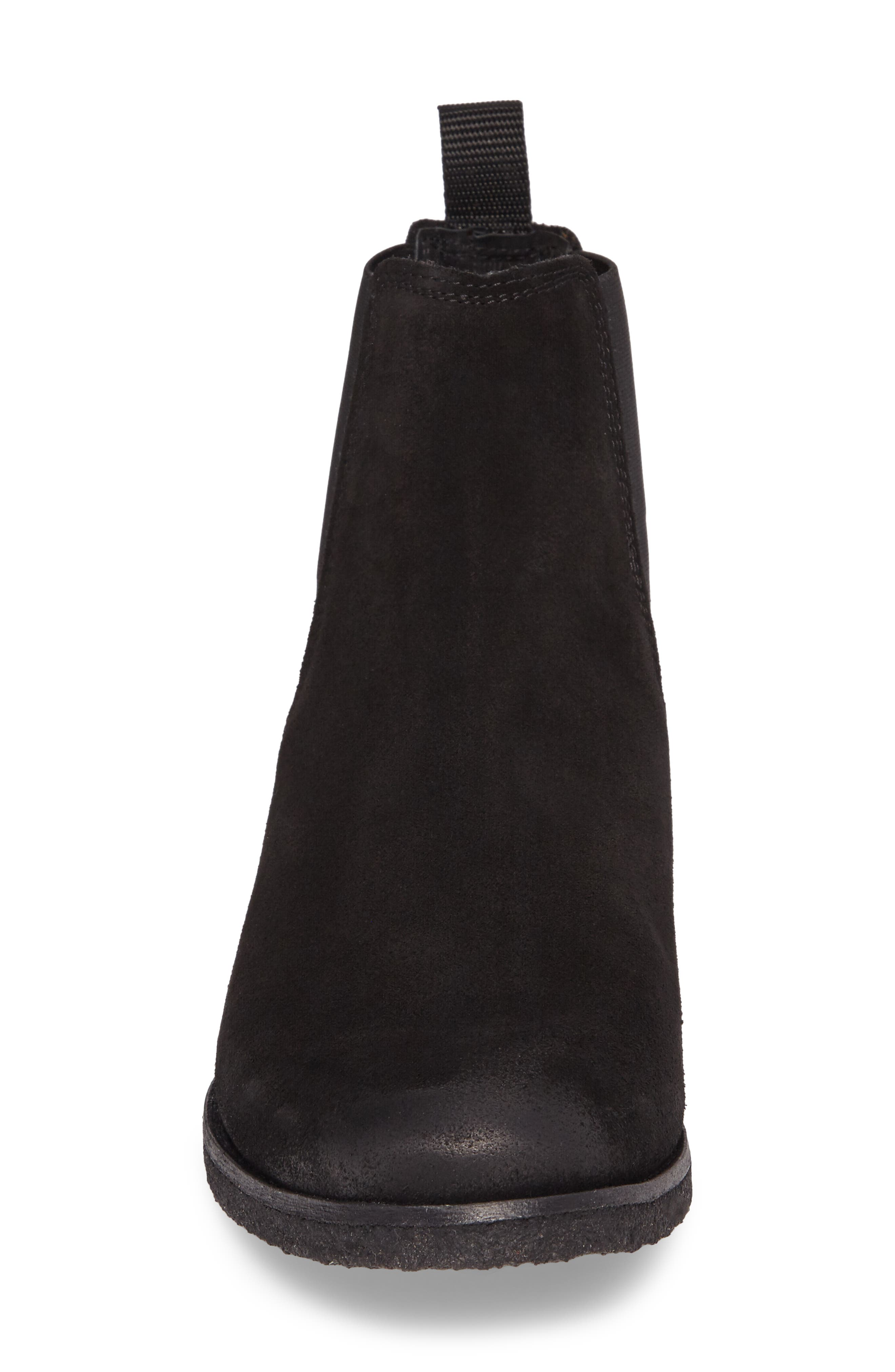Jared Chelsea Boot,                             Alternate thumbnail 4, color,                             Black Suede
