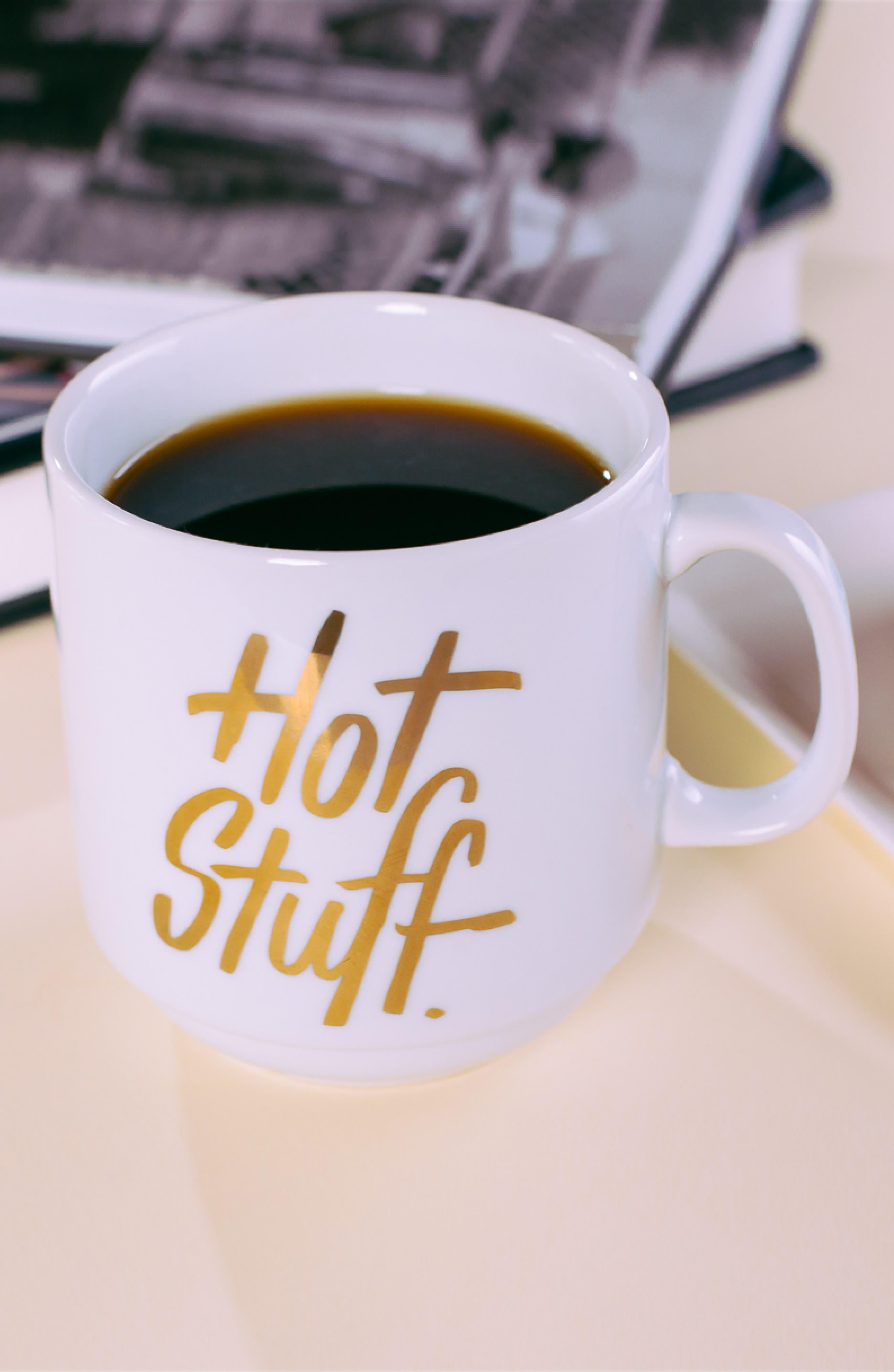 Alternate Image 2  - Easy, Tiger Hot Stuff Porcelain Mug