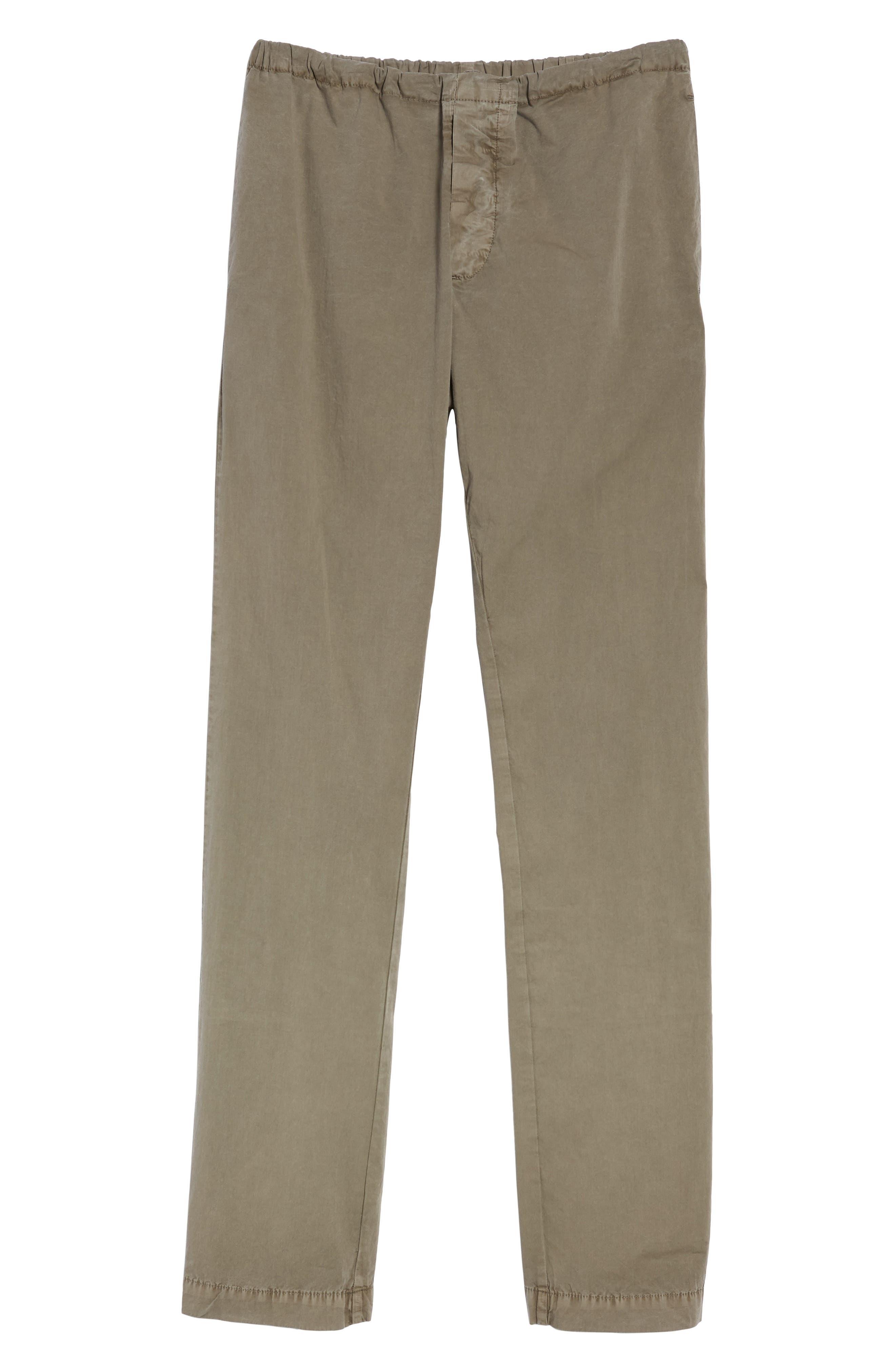 Slim Stretch Poplin Drawcord Pants,                             Alternate thumbnail 6, color,                             Greystone Pigment