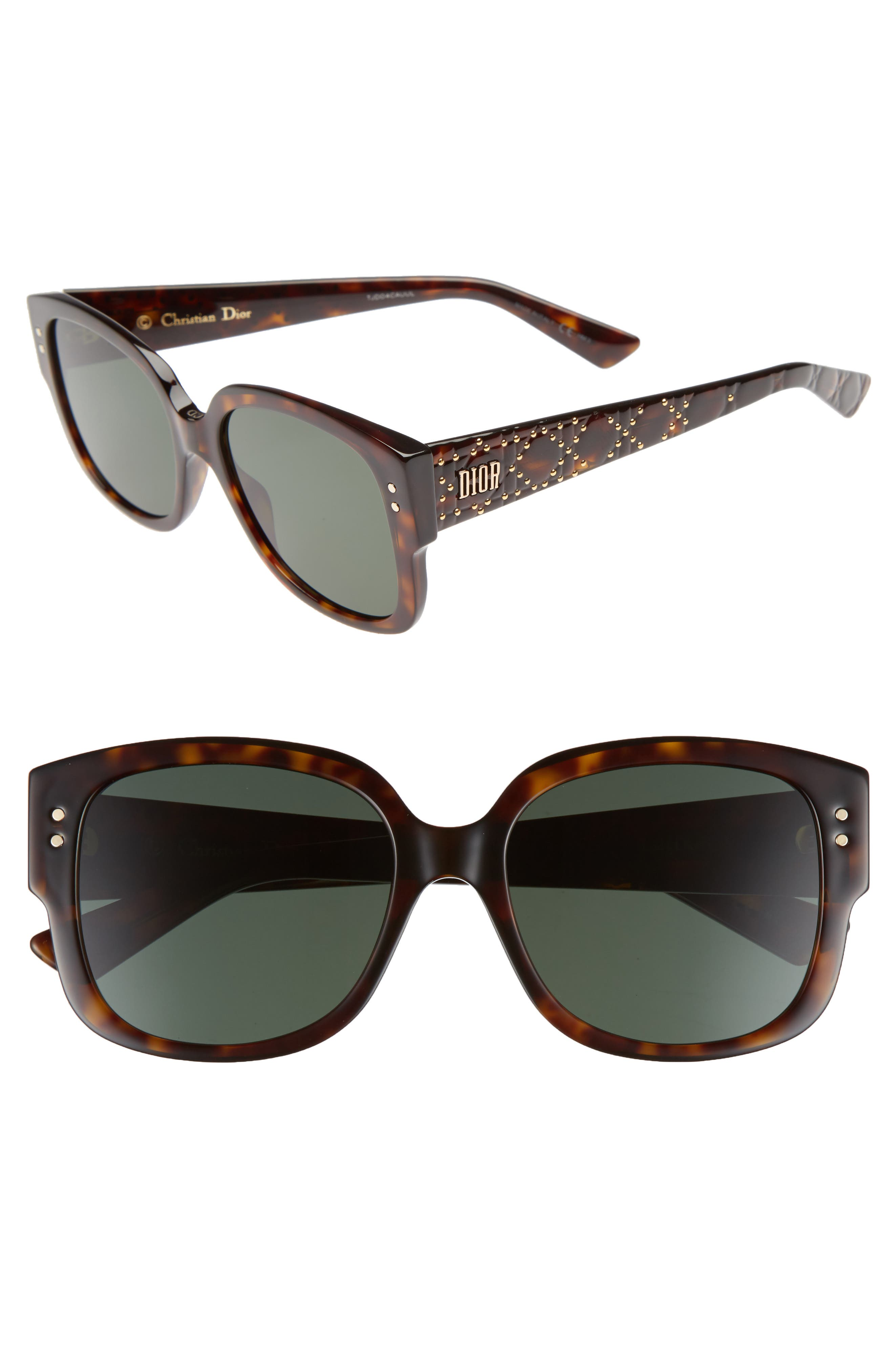 Square 54mm Sunglasses,                         Main,                         color, Dark Havana