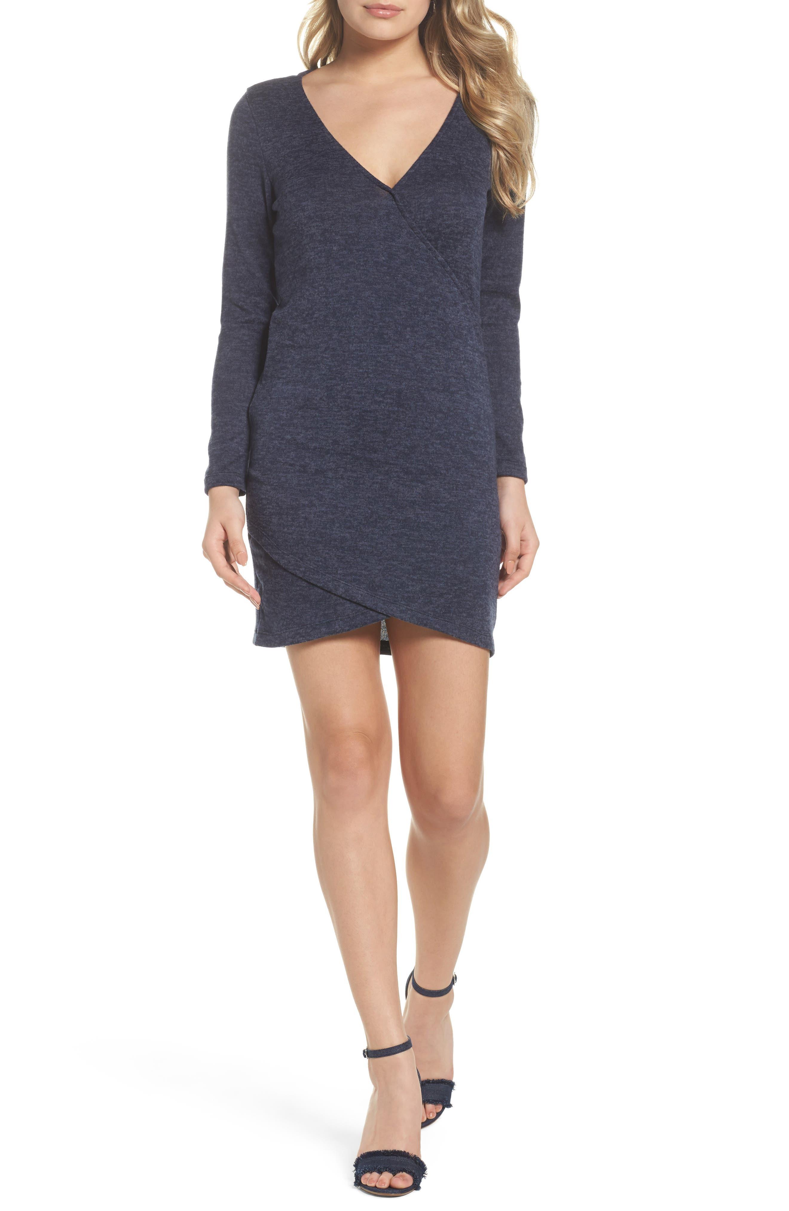 Sweater Dress,                         Main,                         color, Denim Blue
