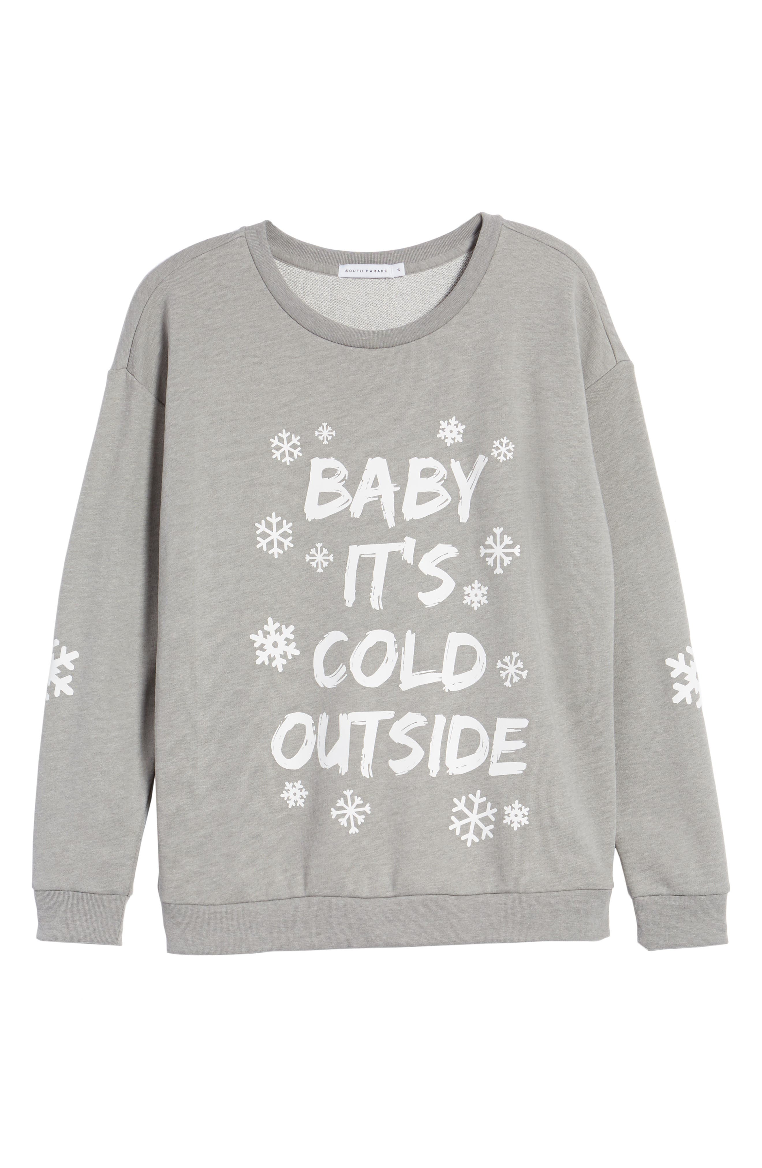 Alternate Image 6  - South Parade Baby It's Cold Outside Sweatshirt