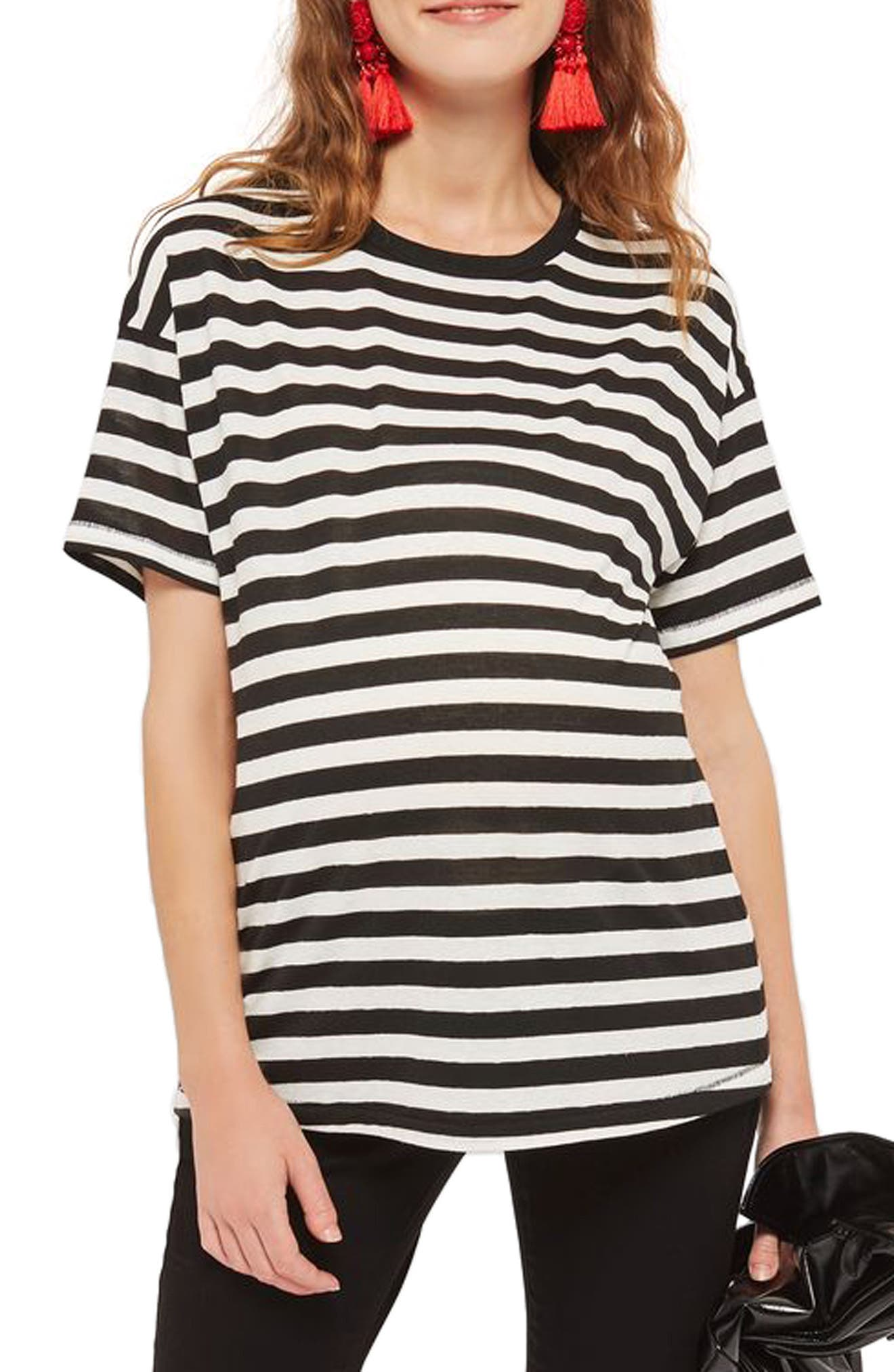 Topshop Bold Stripe Maternity Tee