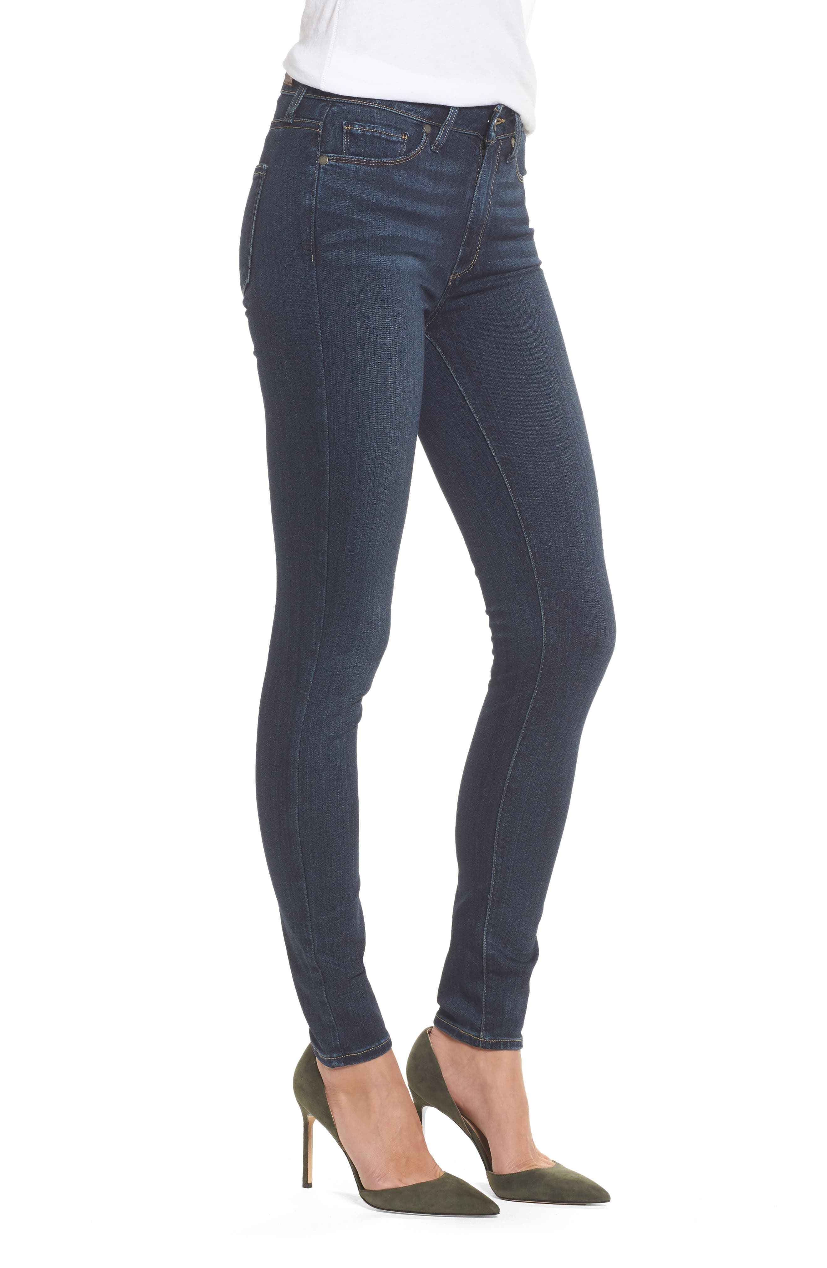 Transcend - Hoxton High Waist Ultra Skinny Jeans,                             Alternate thumbnail 4, color,                             Nottingham