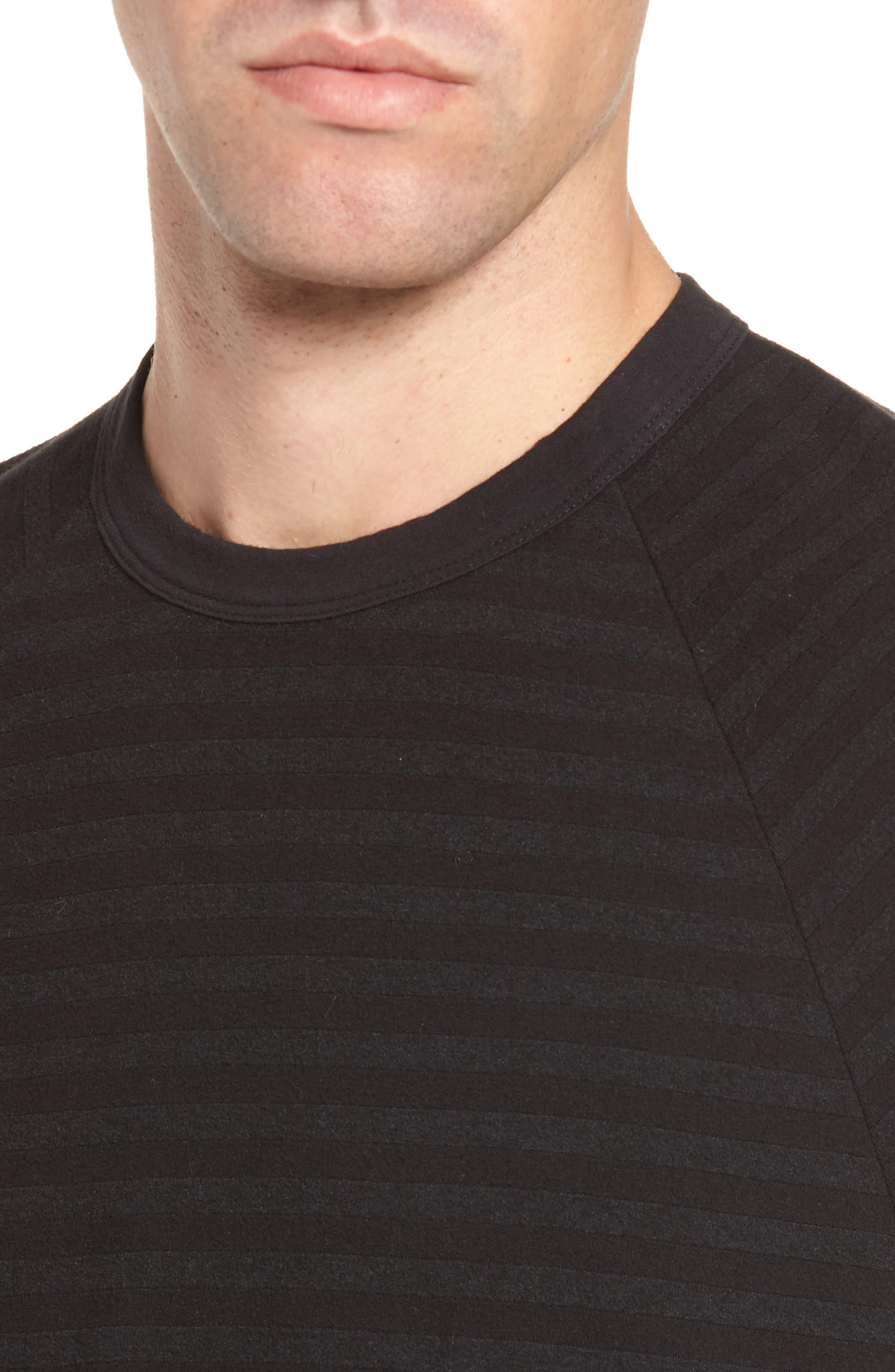 Alternate Image 4  - James Perse Shadow Stripe Raglan Pullover