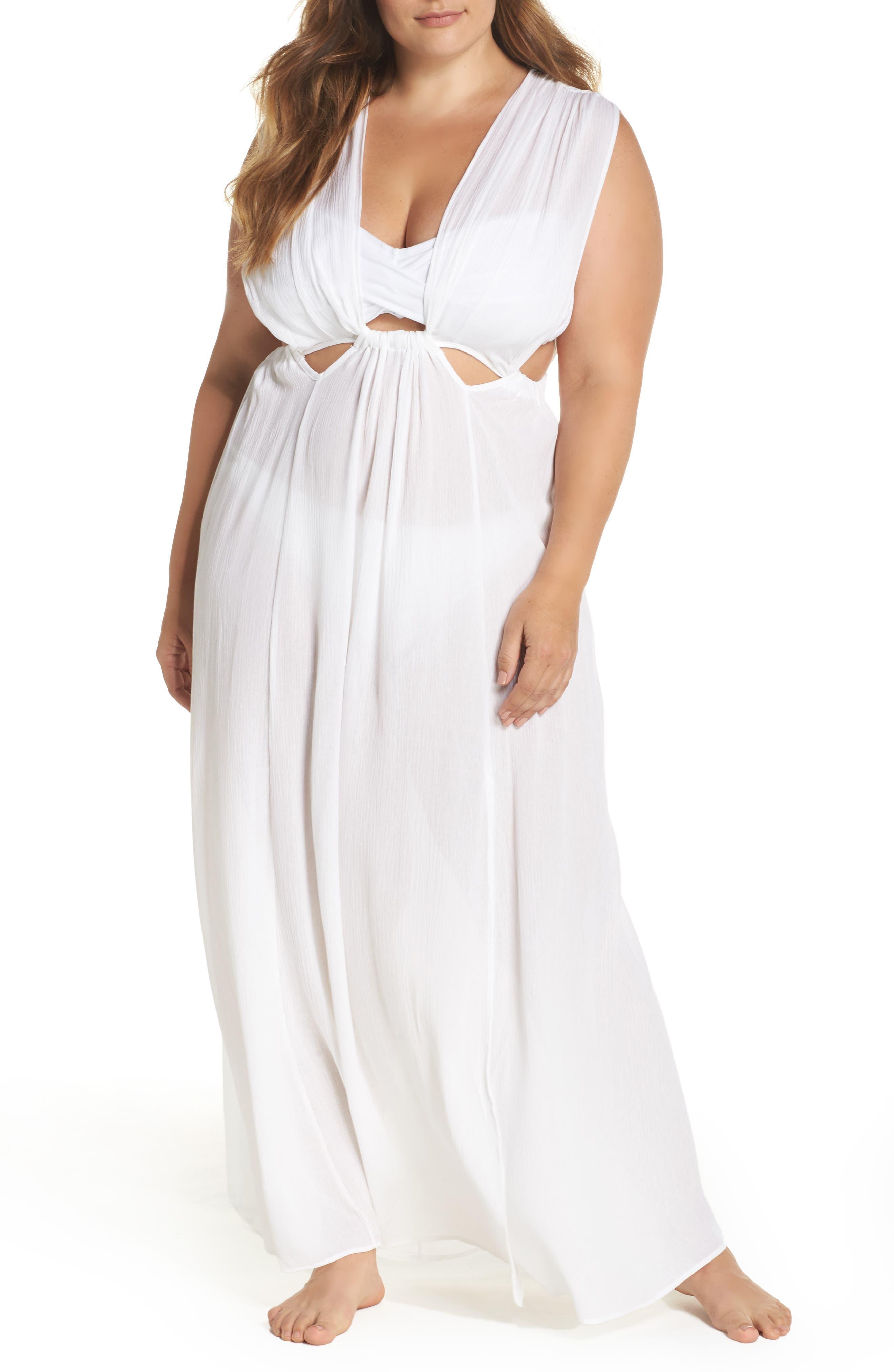 Elan Cutout Cover-Up Maxi Dress (Plus Size)