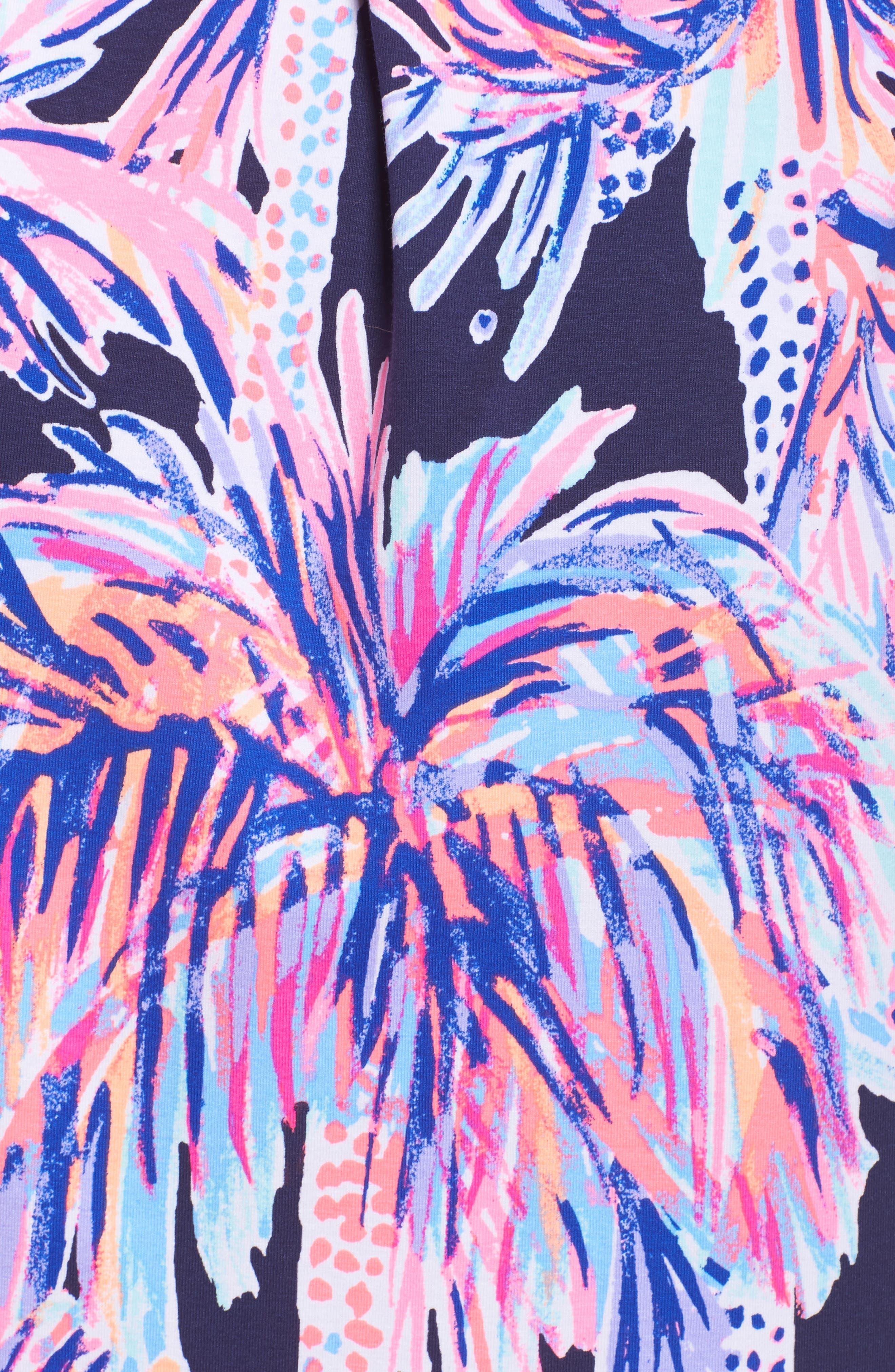 Bailor Shirtdress,                             Alternate thumbnail 5, color,                             Bright Navy Palms Up
