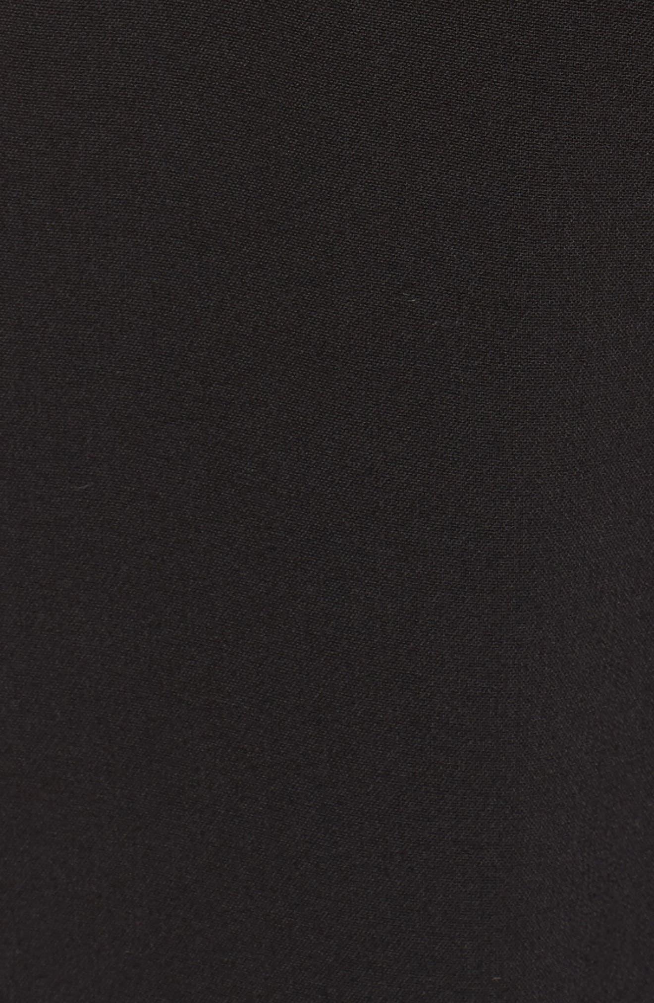 Ruffle Off the Shoulder Jumpsuit,                             Alternate thumbnail 5, color,                             Black