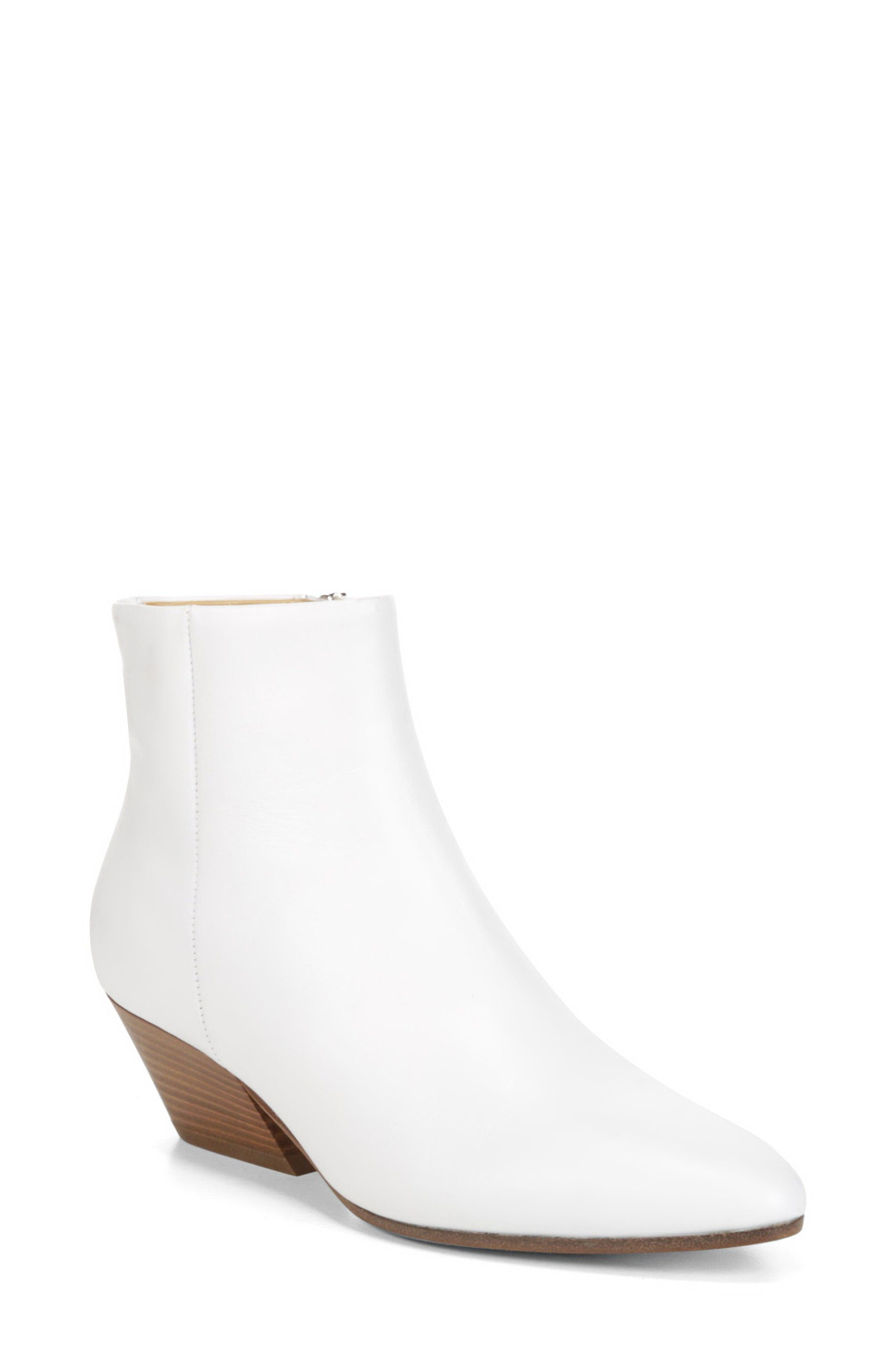 Vaughn Bootie,                             Main thumbnail 1, color,                             Optic White Leather