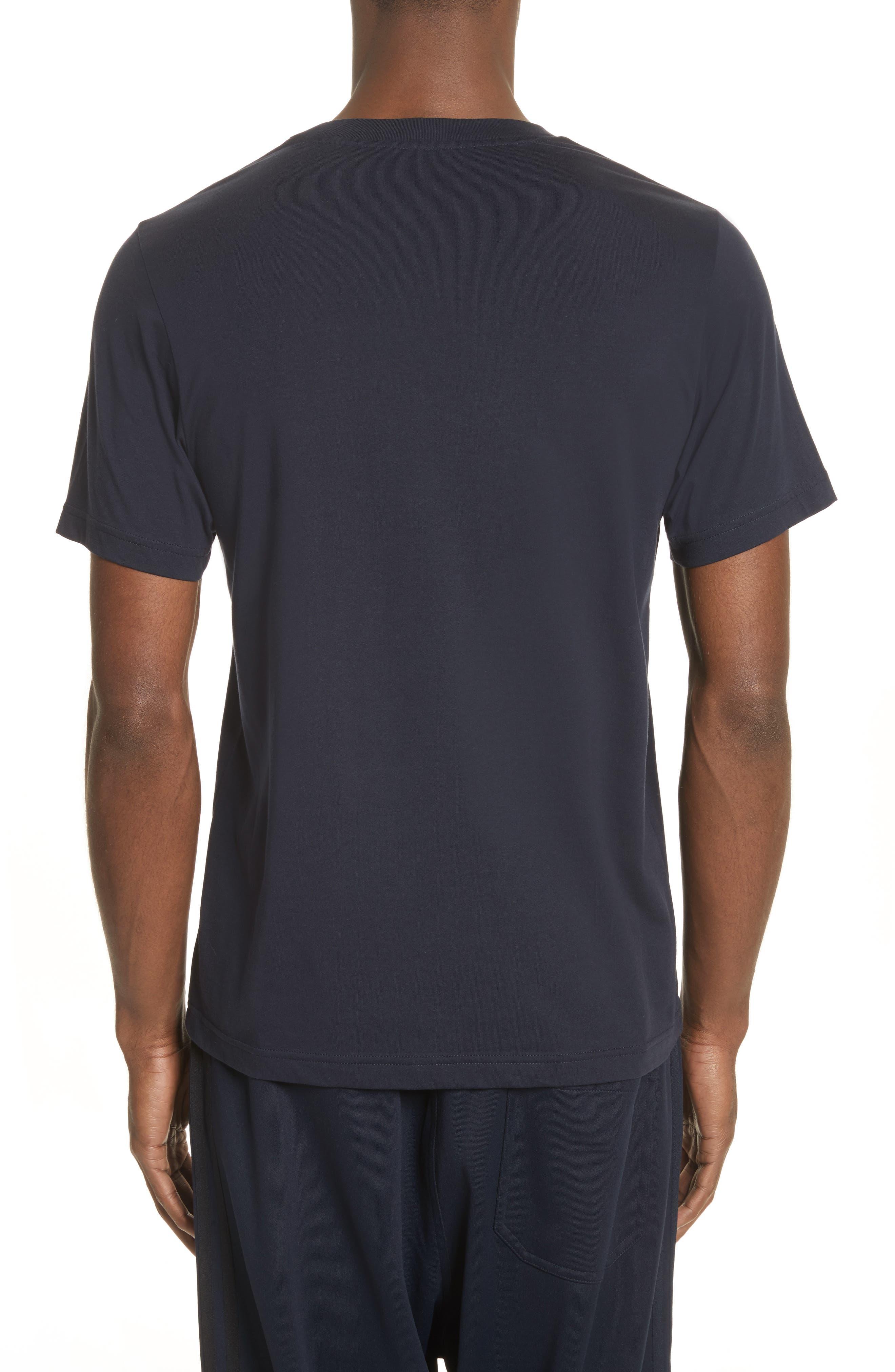 Logo Print T-Shirt,                             Alternate thumbnail 2, color,                             Navy