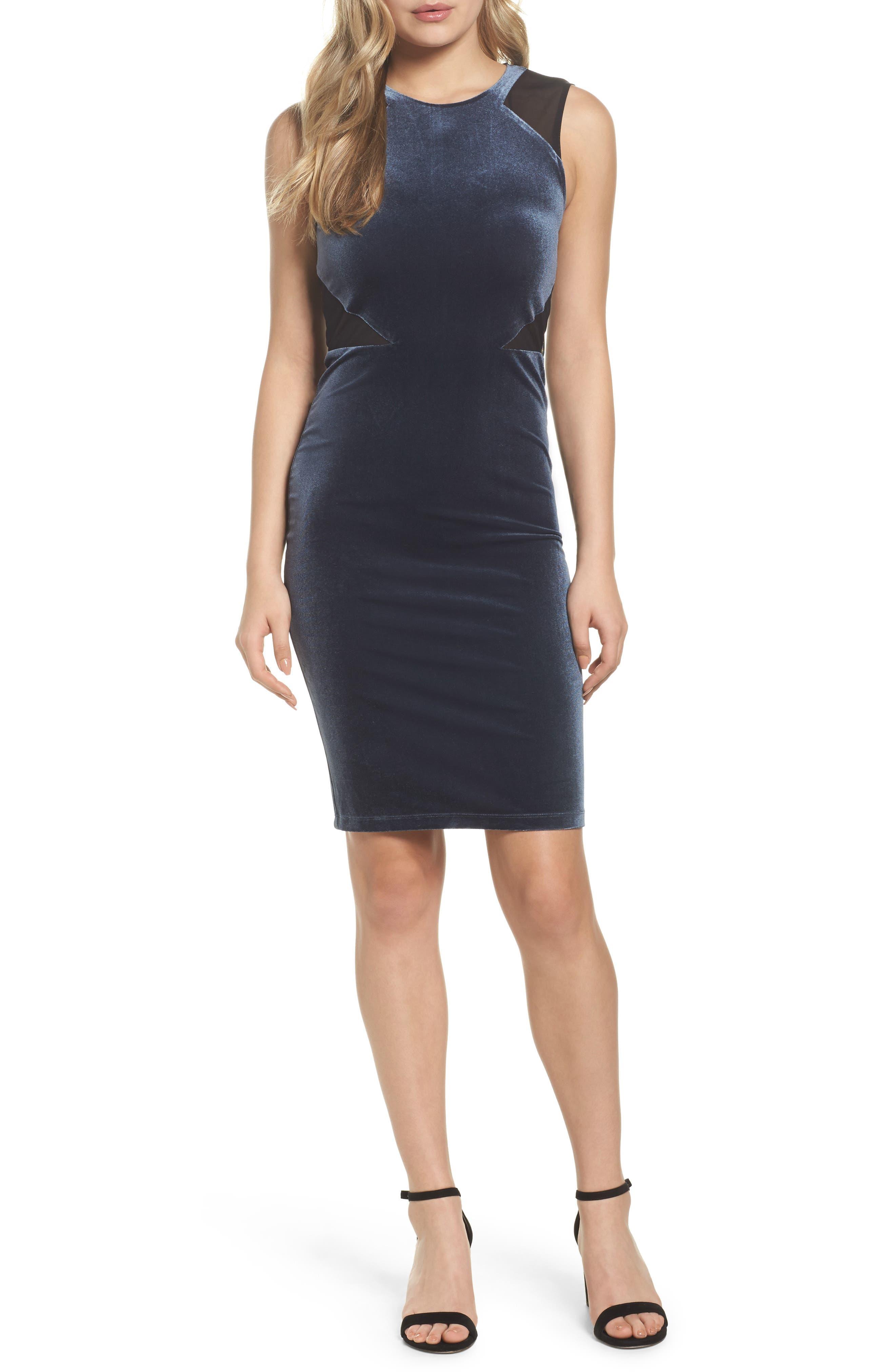 French Connection Viven Velvet Body-Con Dress