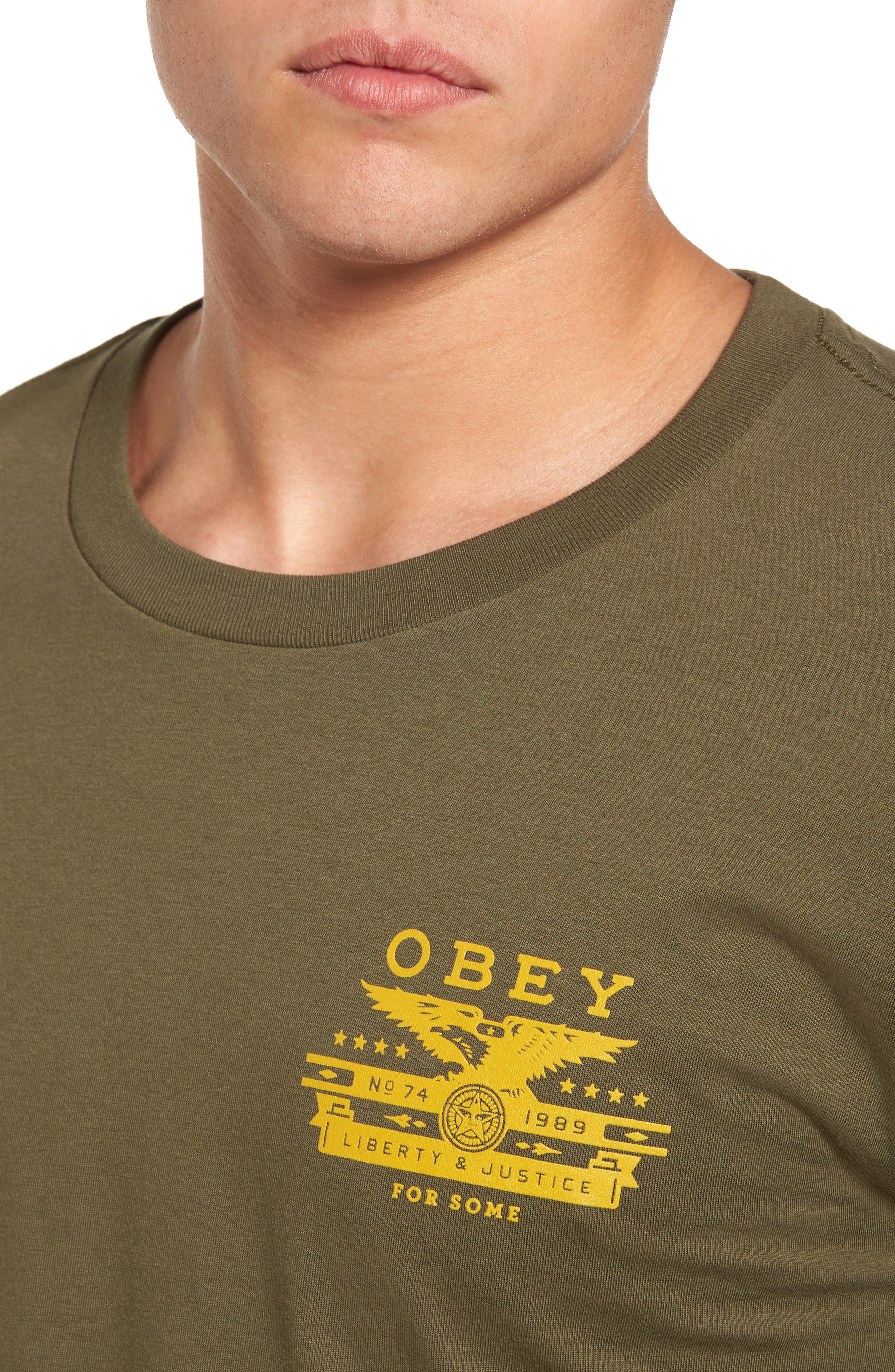 Alternate Image 4  - Obey Dissent & Justice T-Shirt