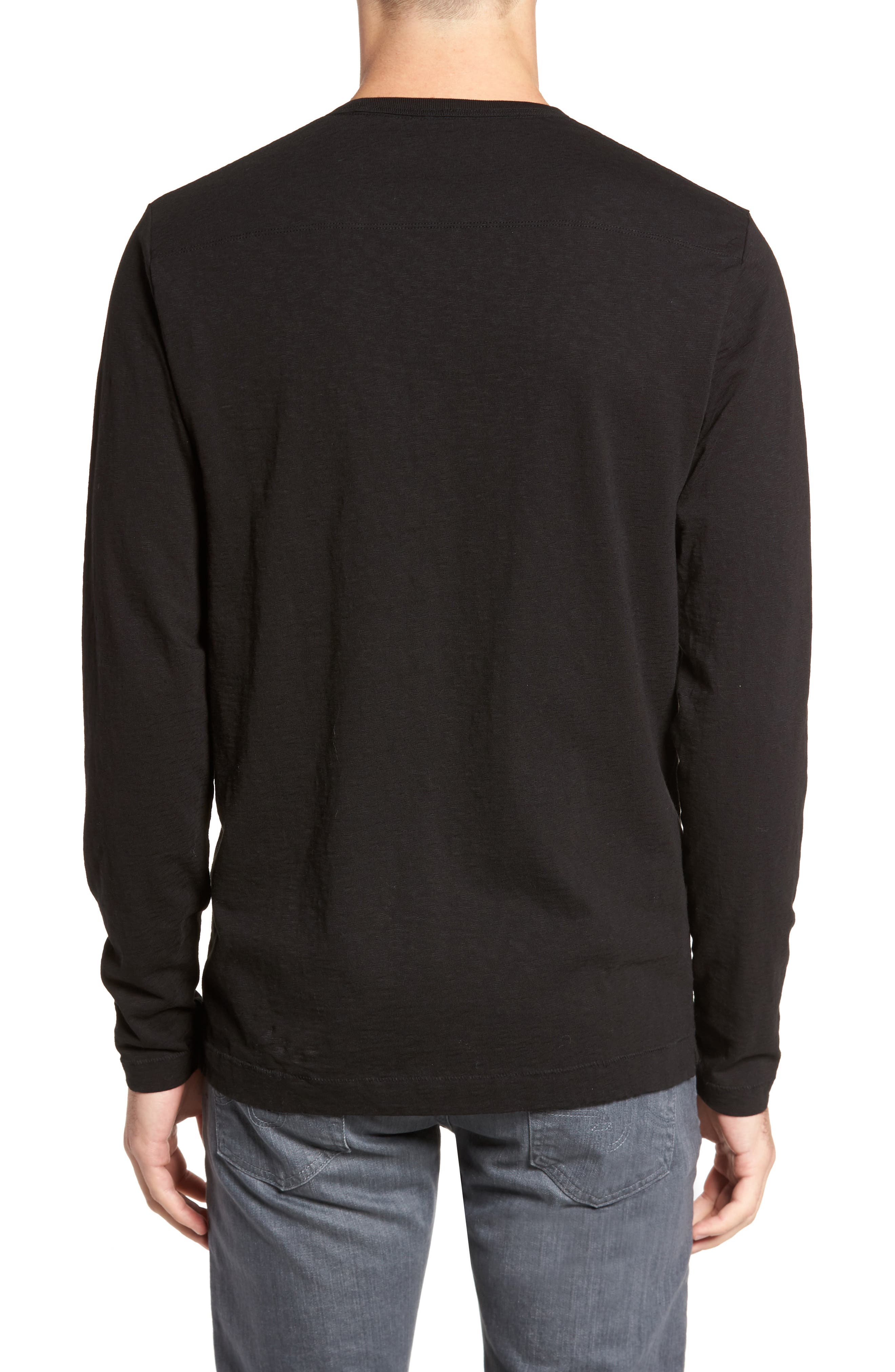 L'Hiver Regular Fit Long Sleeve T-shirt,                             Alternate thumbnail 2, color,                             Black/ Clay