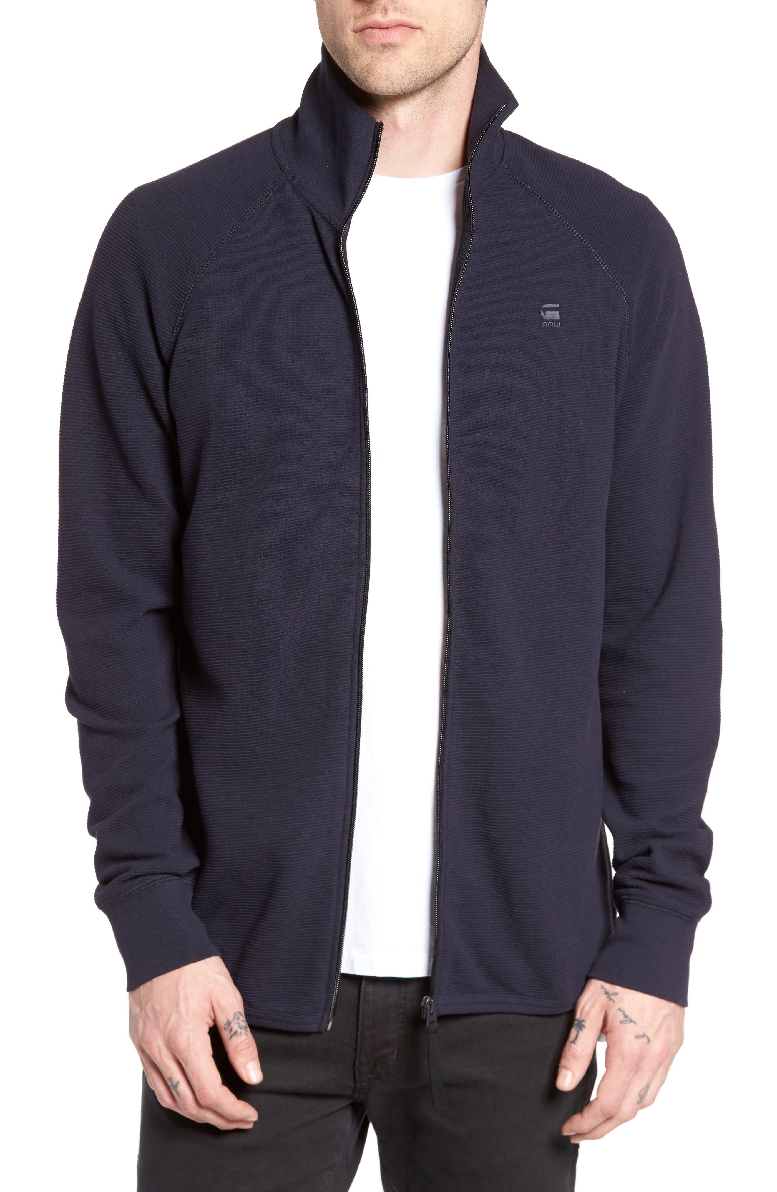 Jirgi Zip Front Jacket,                             Main thumbnail 1, color,                             Dark Naval Blue