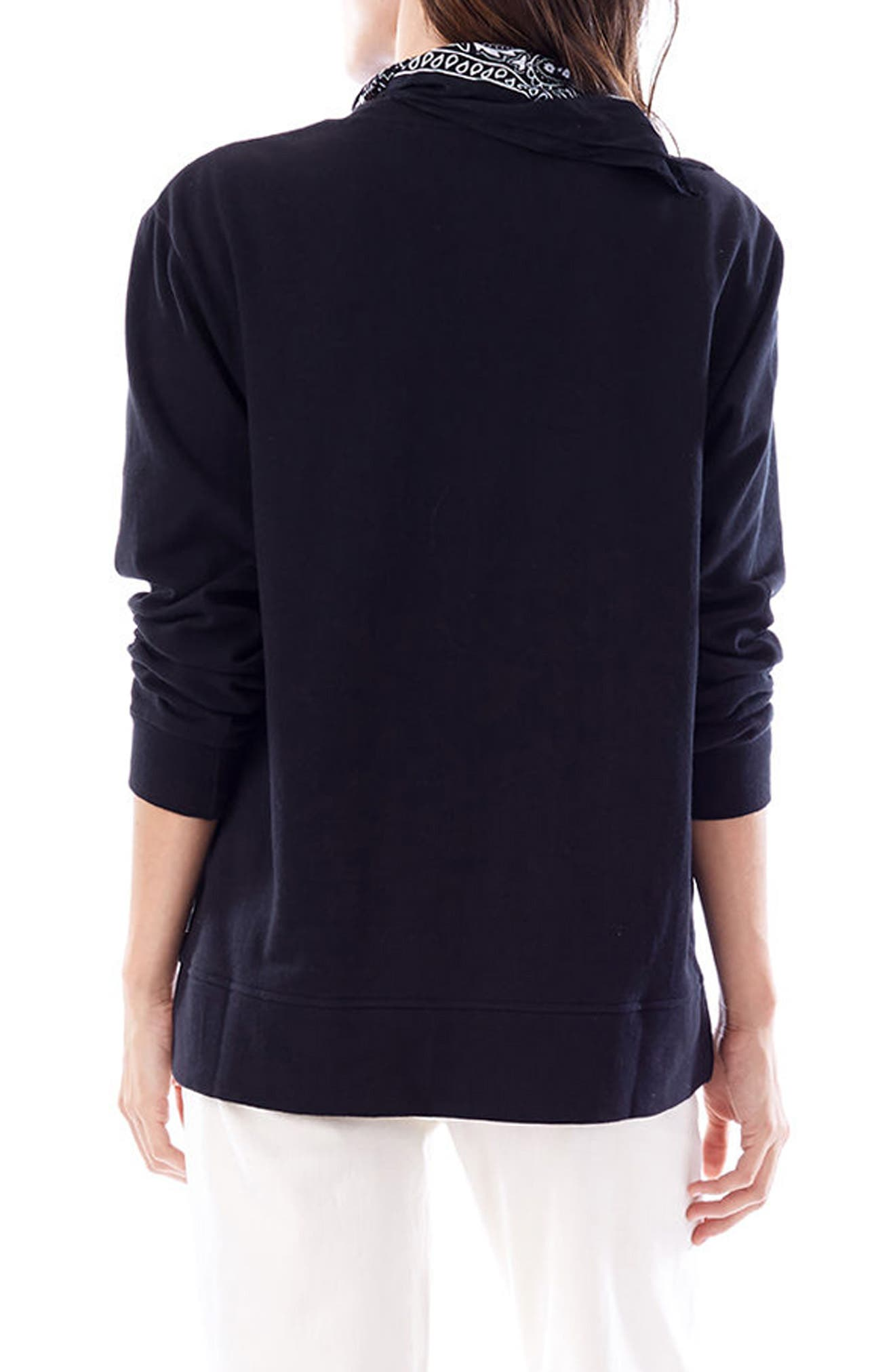 Sasha Maternity/Nursing Sweatshirt,                             Alternate thumbnail 3, color,                             Black