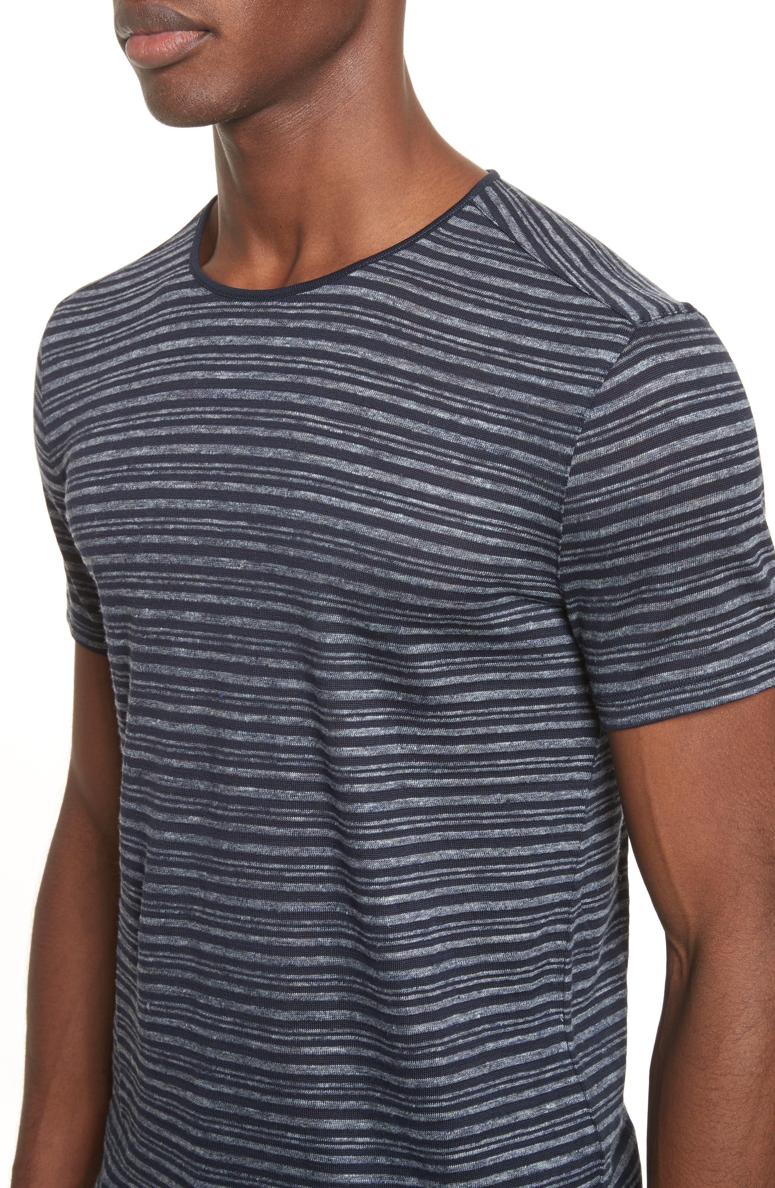 Stripe T-Shirt,                             Alternate thumbnail 4, color,                             Eclipse