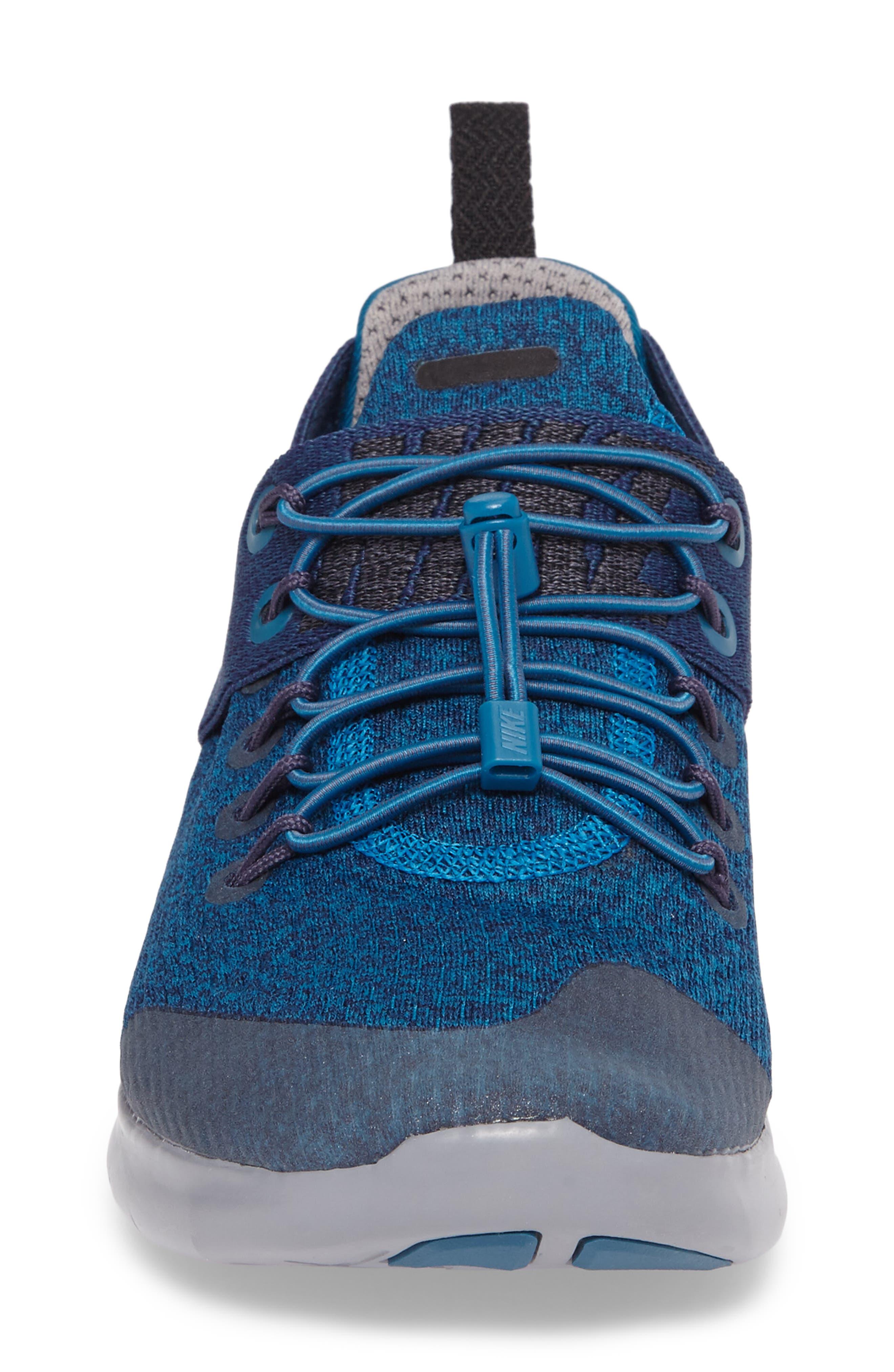 Free RN Commuter 2017 Premium Running Shoe,                             Alternate thumbnail 4, color,                             Green / Black/ Cobblestone