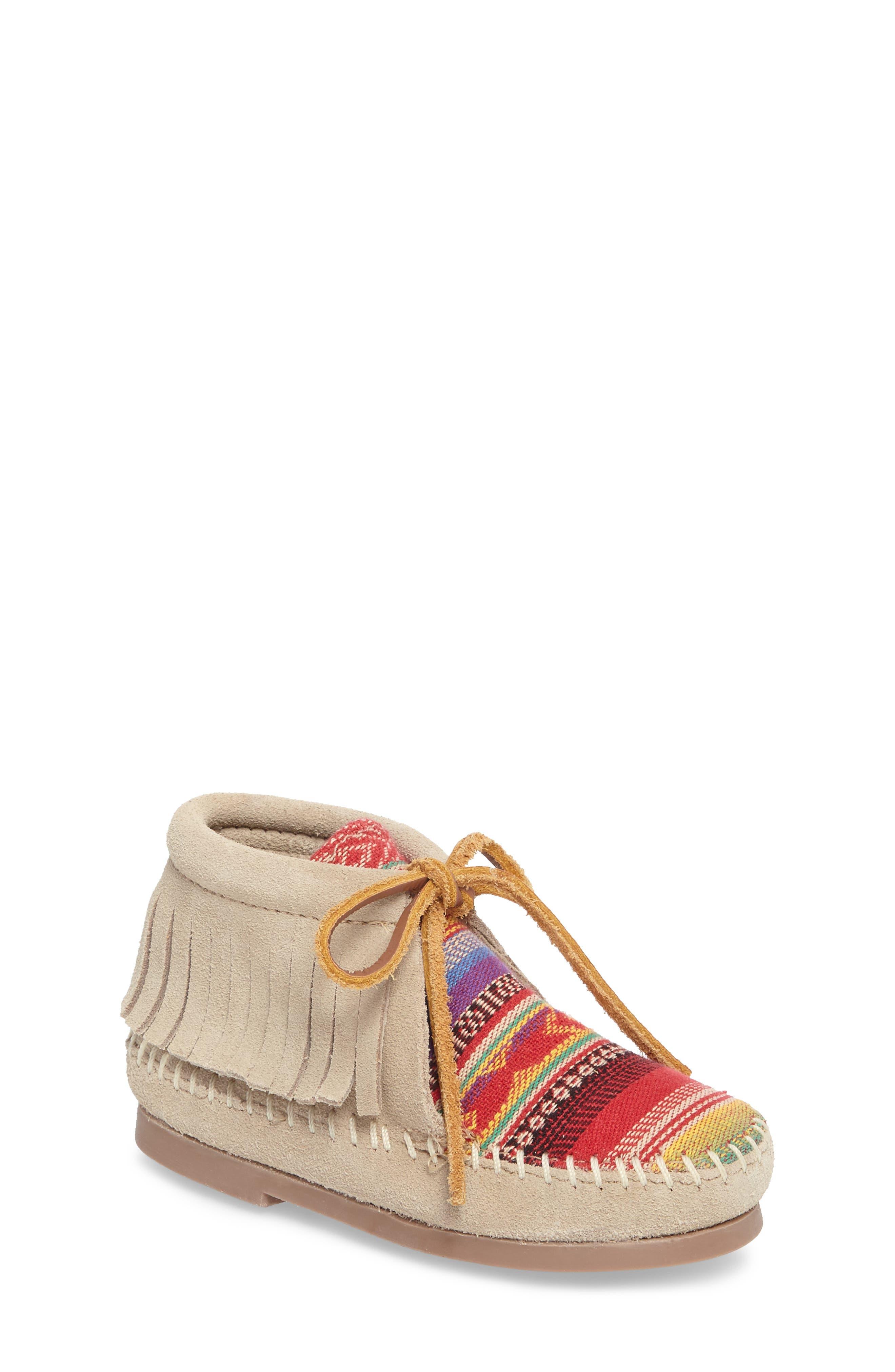 Alternate Image 1 Selected - Minnetonka Frisco Chukka Boot (Walker, Toddler, Little Kid & Big Kid)