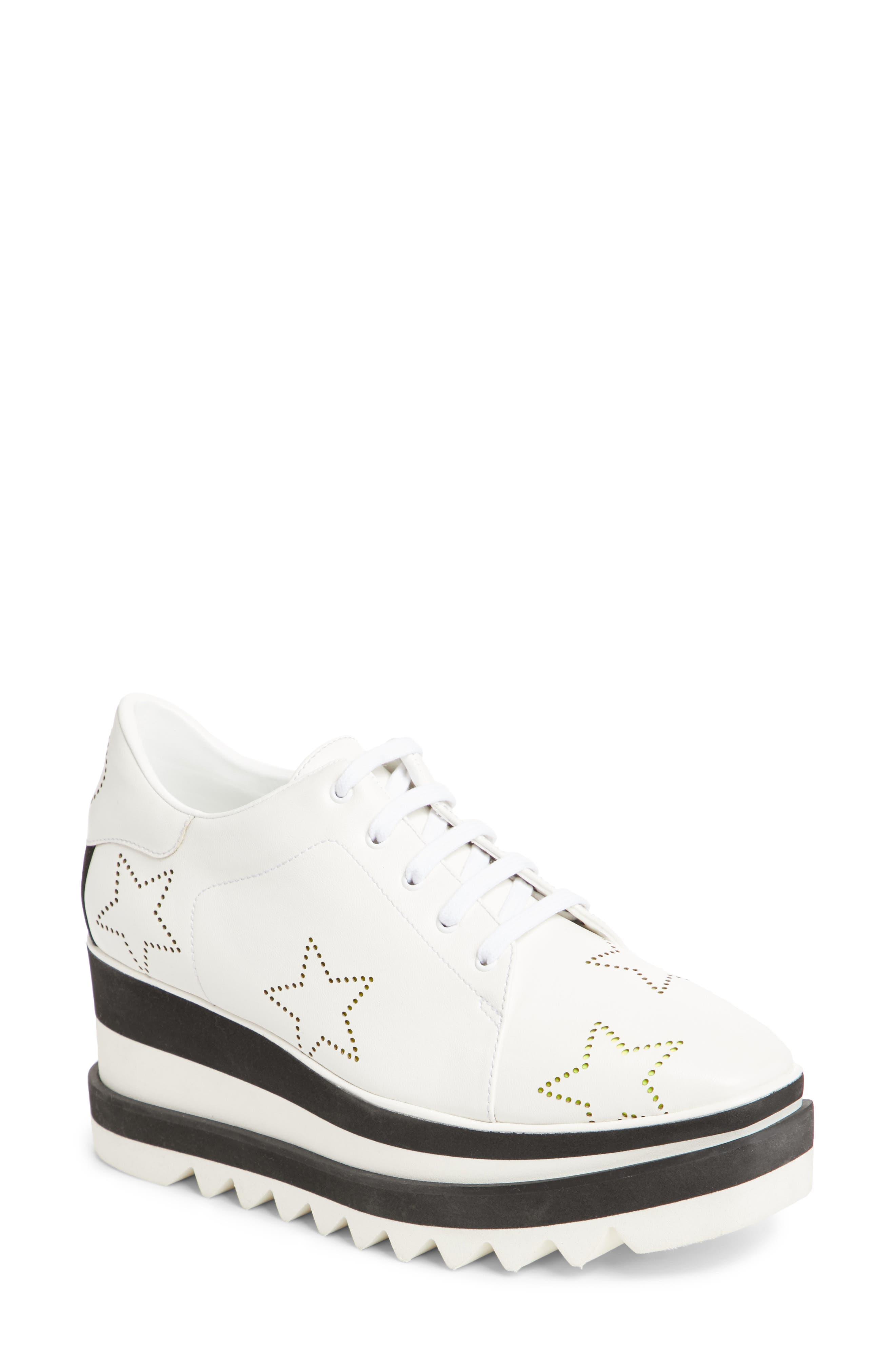 Elyse Platform Sneaker,                             Main thumbnail 1, color,                             White