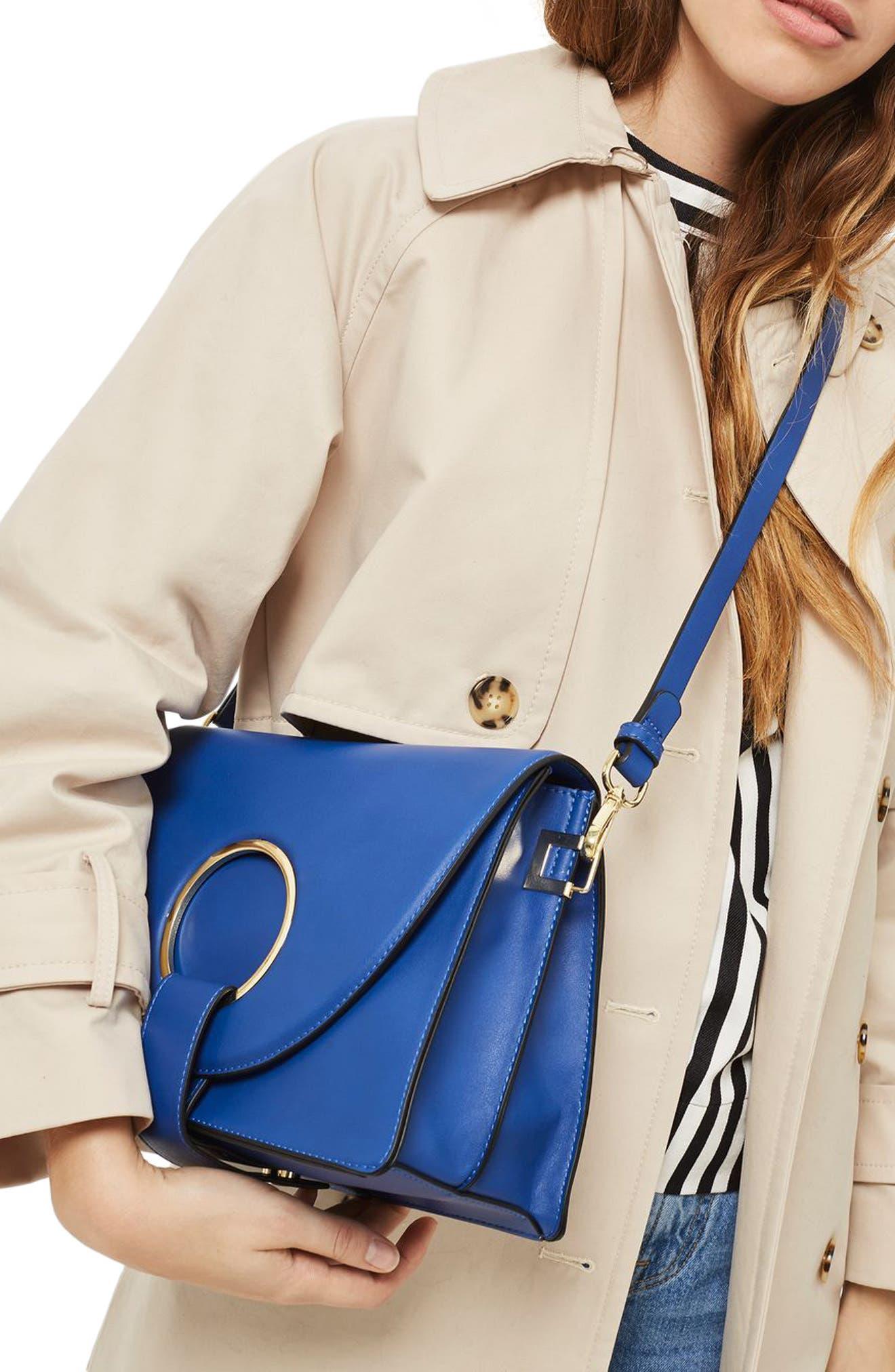 Shay Ring Shoulder Bag,                             Alternate thumbnail 2, color,                             Blue