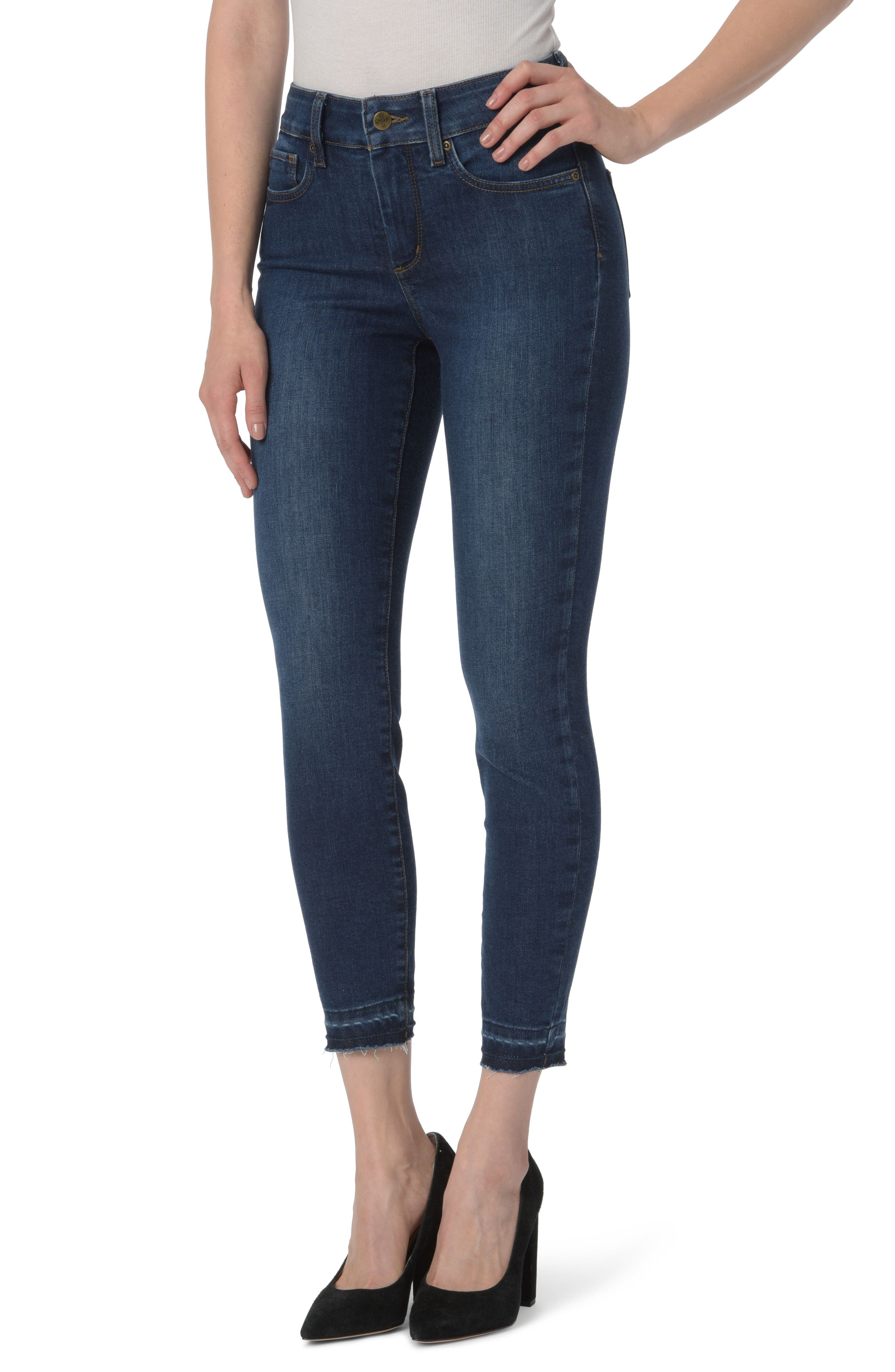 Ami Release Hem Stretch Ankle Skinny Jeans,                         Main,                         color, Cooper