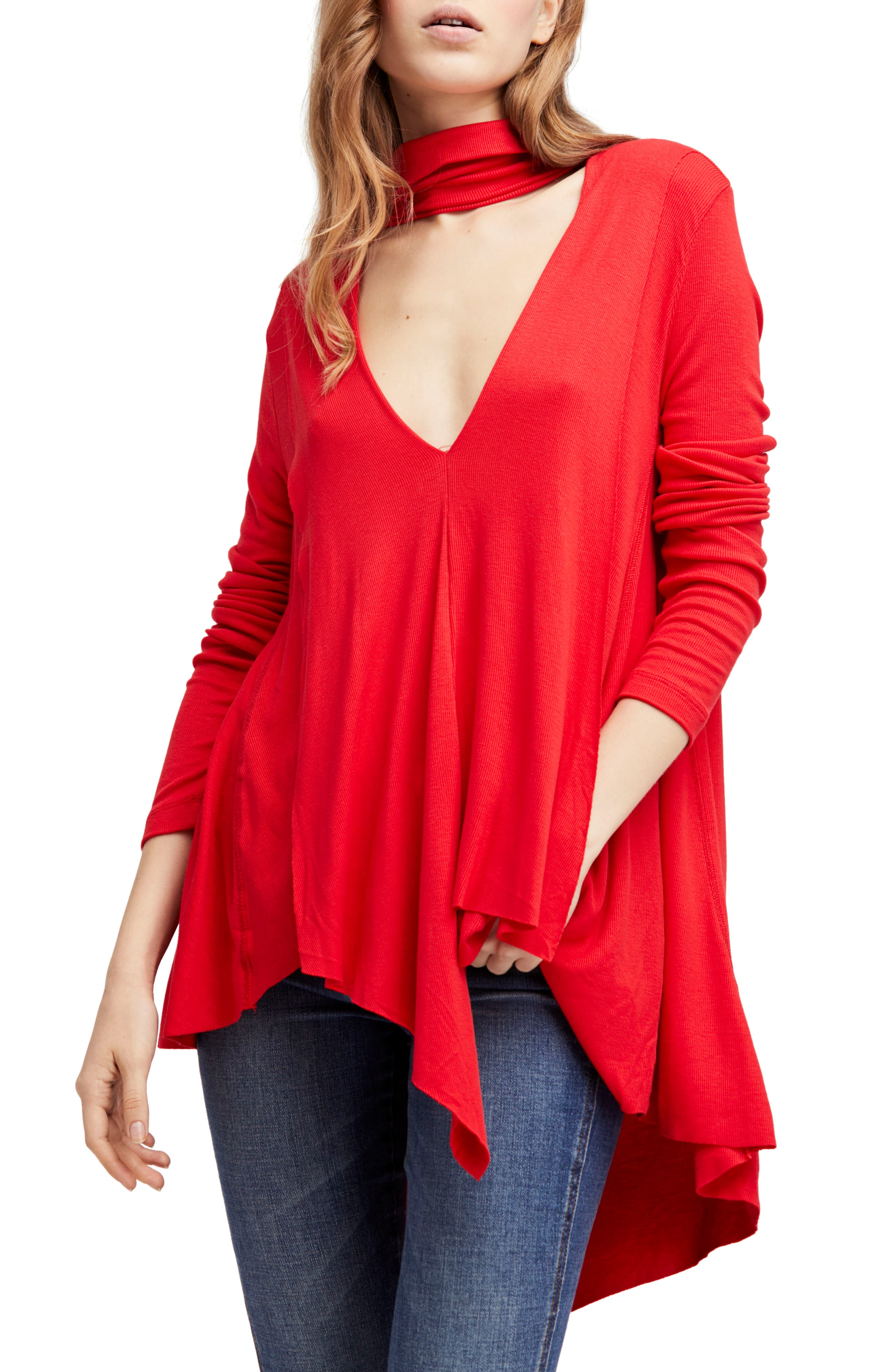 Uptown Turtleneck Top,                         Main,                         color, Red