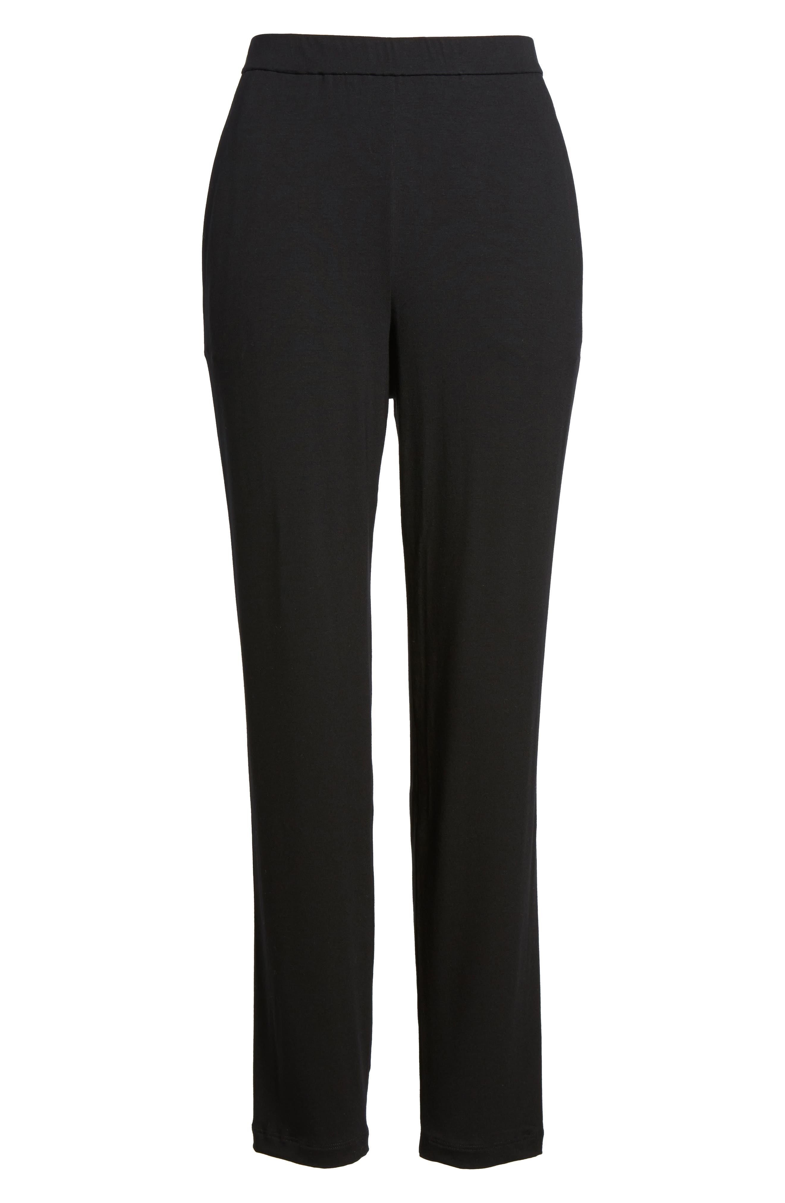 Alternate Image 6  - Eileen Fisher Crop Stretch Knit Pants (Regular & Petite)