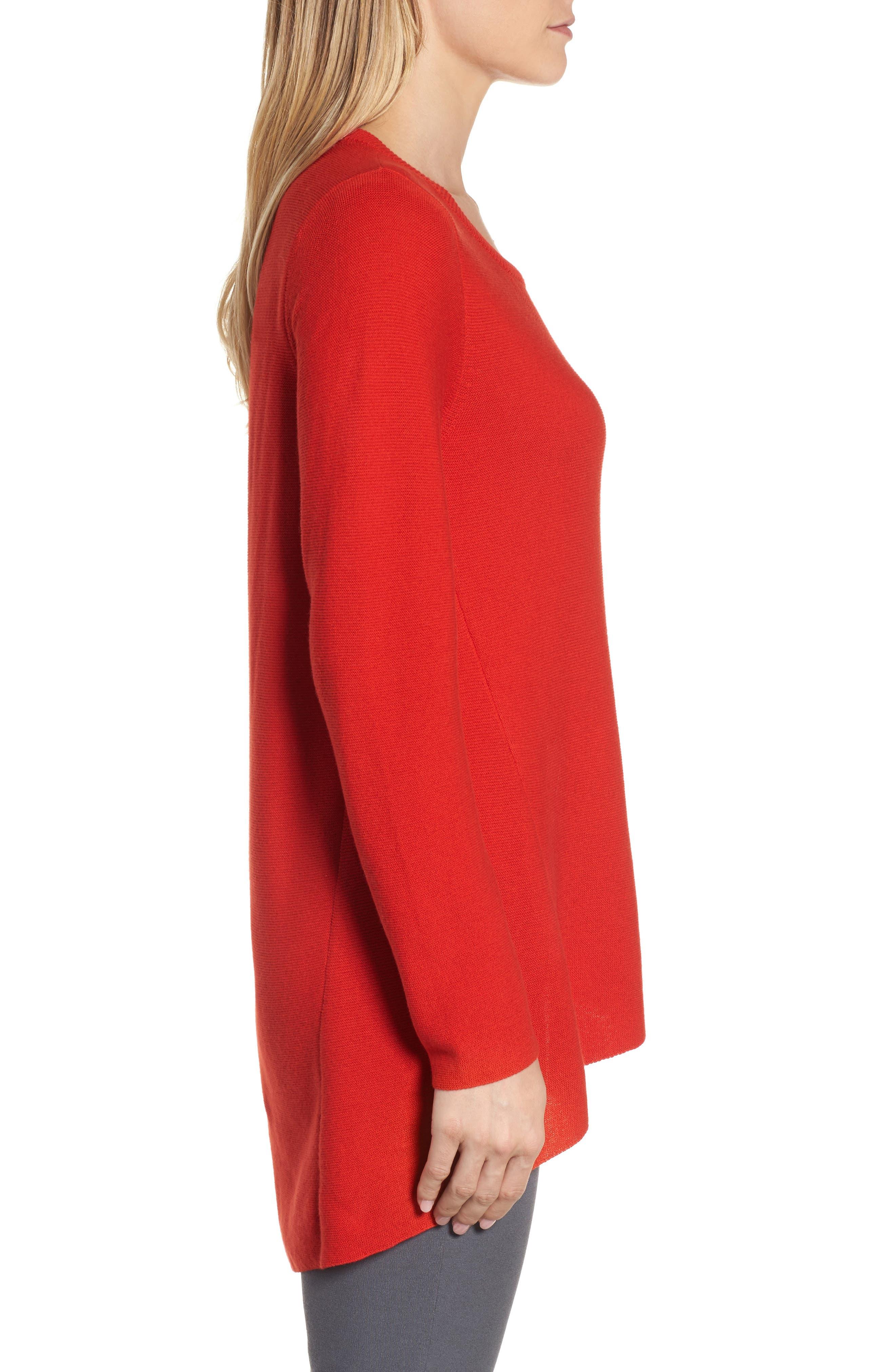 Alternate Image 4  - Eileen Fisher Organic Cotton Tunic Sweater (Regular & Petite)