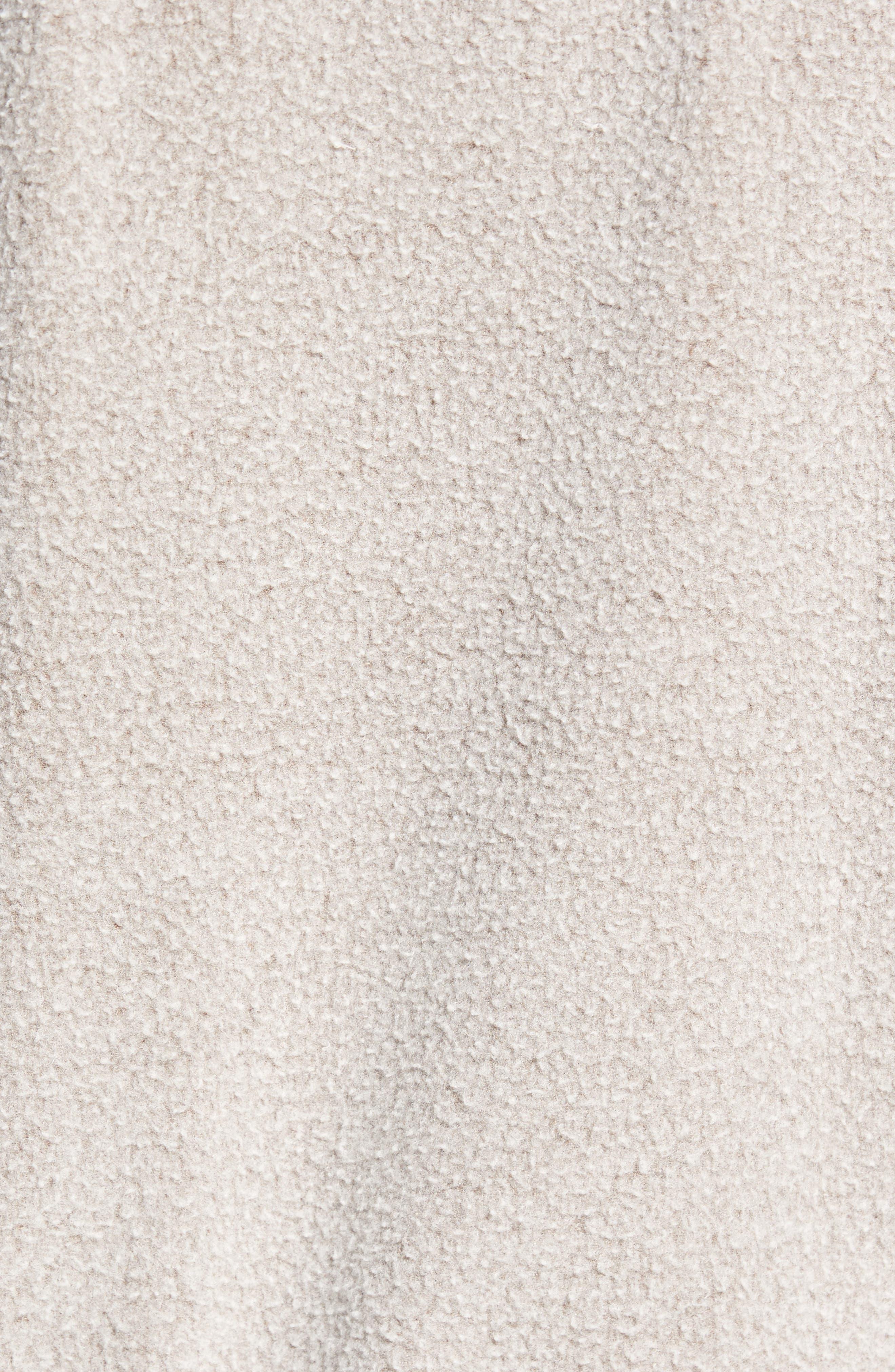 Reverse Fleece Hoodie,                             Alternate thumbnail 5, color,                             Tan Portabella