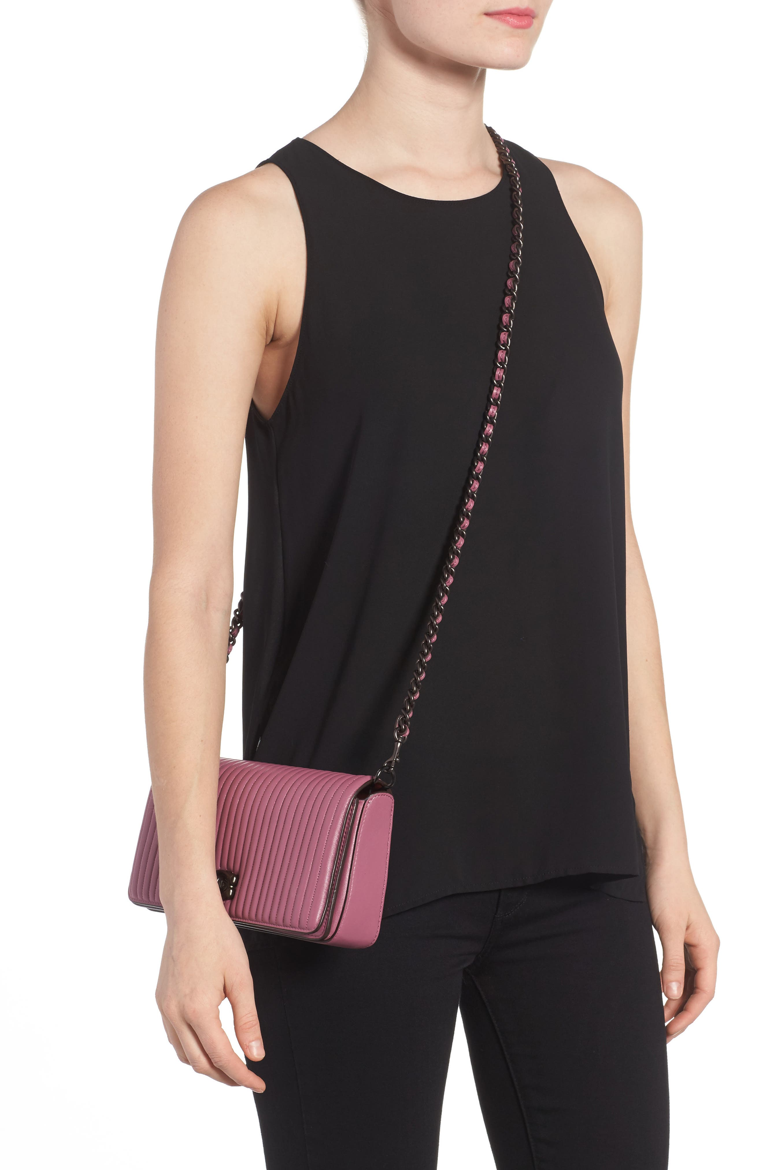 Alternate Image 2  - COACH 1941 Dinky Quilted Leather Crossbody Bag
