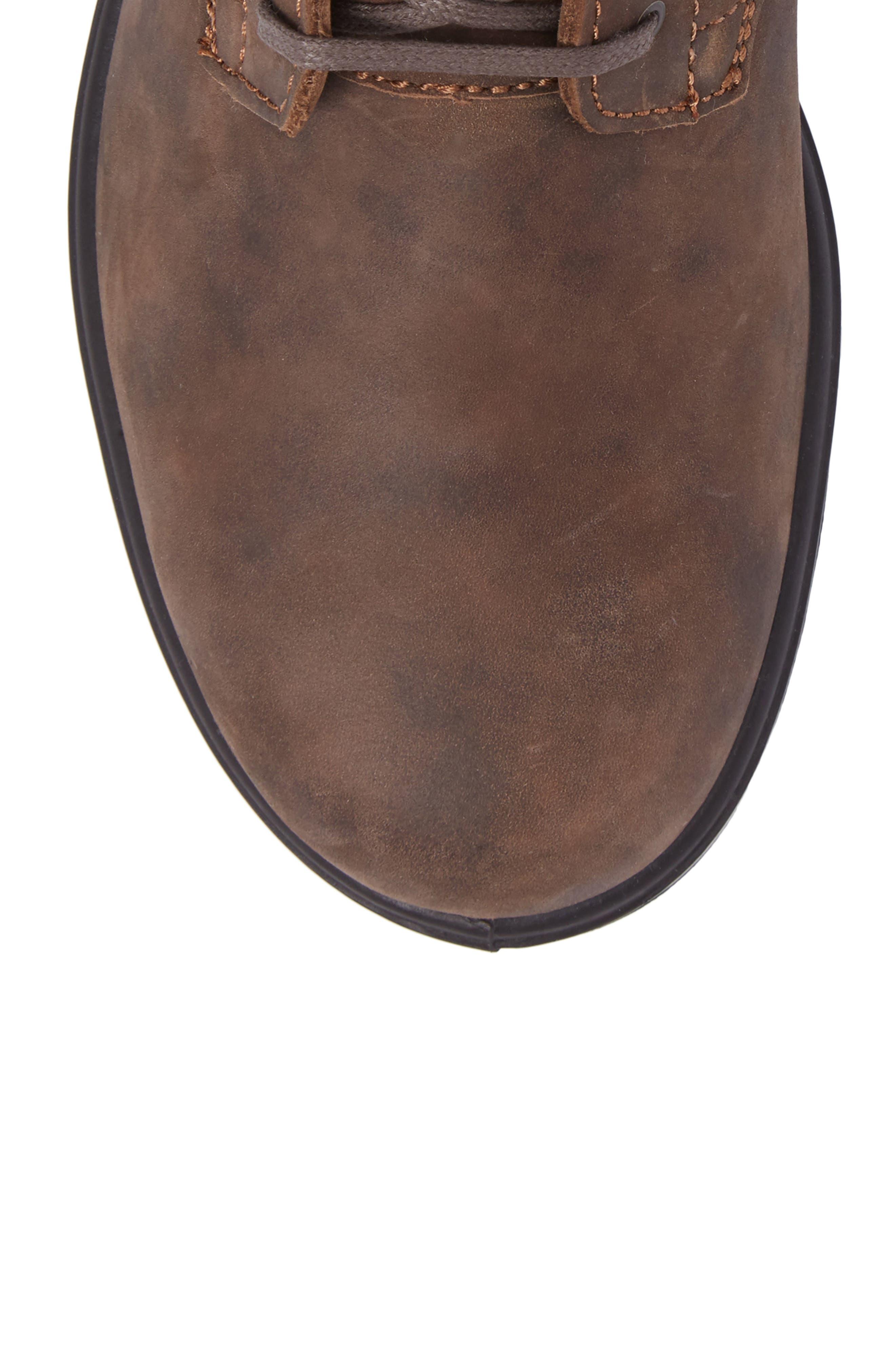 Original Plain Toe Boot,                             Alternate thumbnail 5, color,                             Rustic Brown Leather