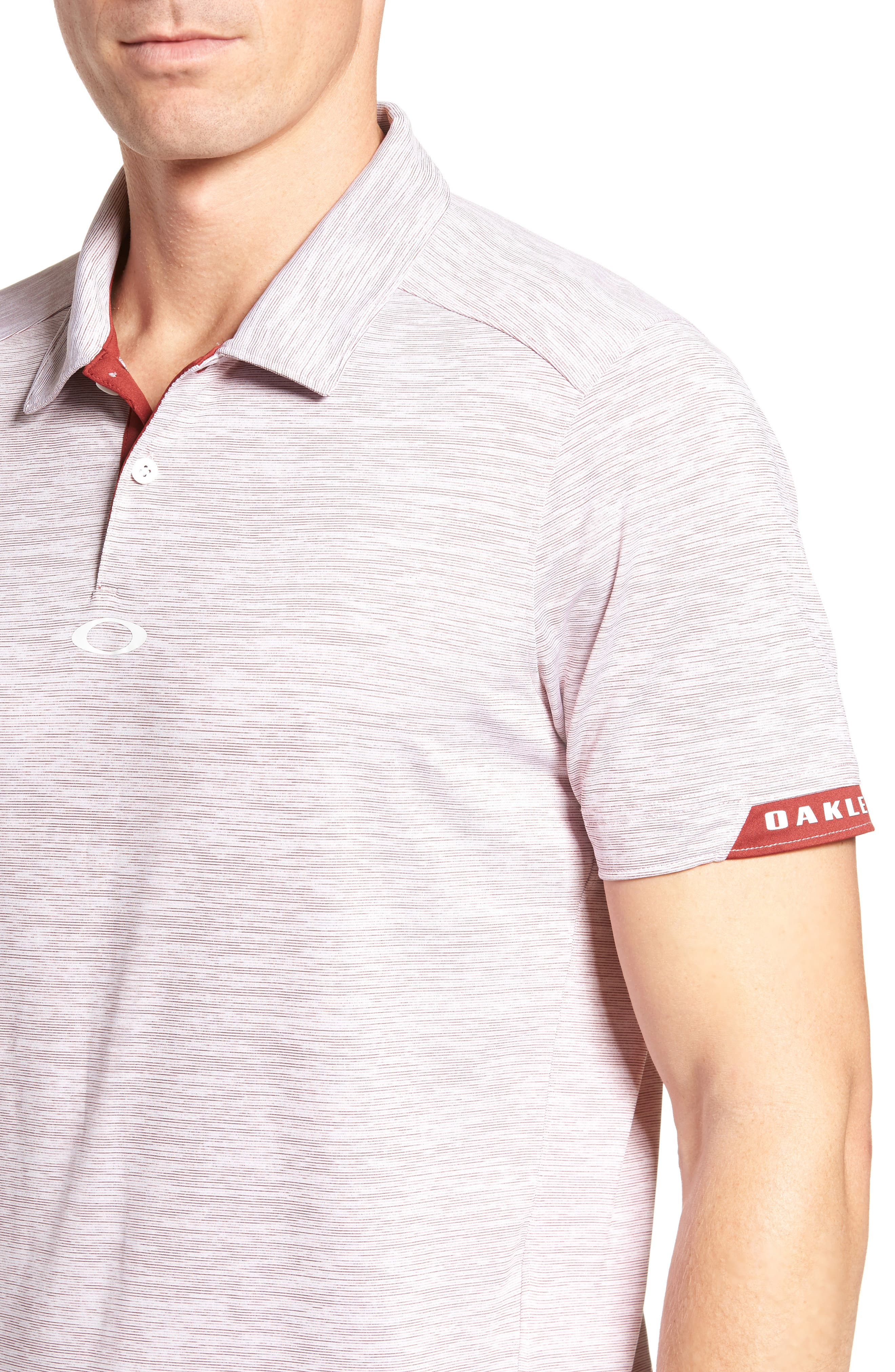 Gravity Polo Shirt,                             Alternate thumbnail 4, color,                             Iron Red