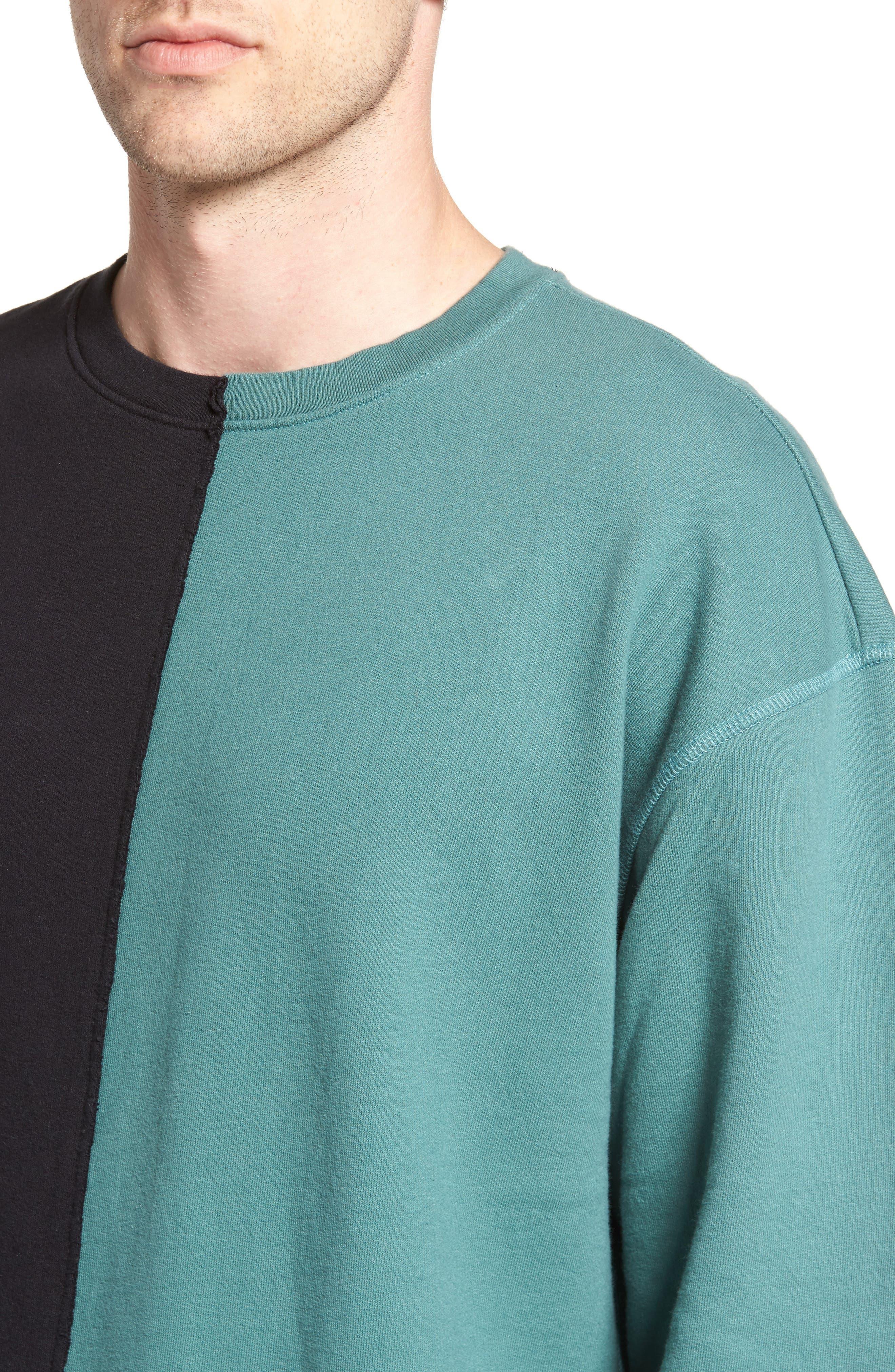 Colorblock T-Shirt,                             Alternate thumbnail 4, color,                             Black Rock / Green Pine
