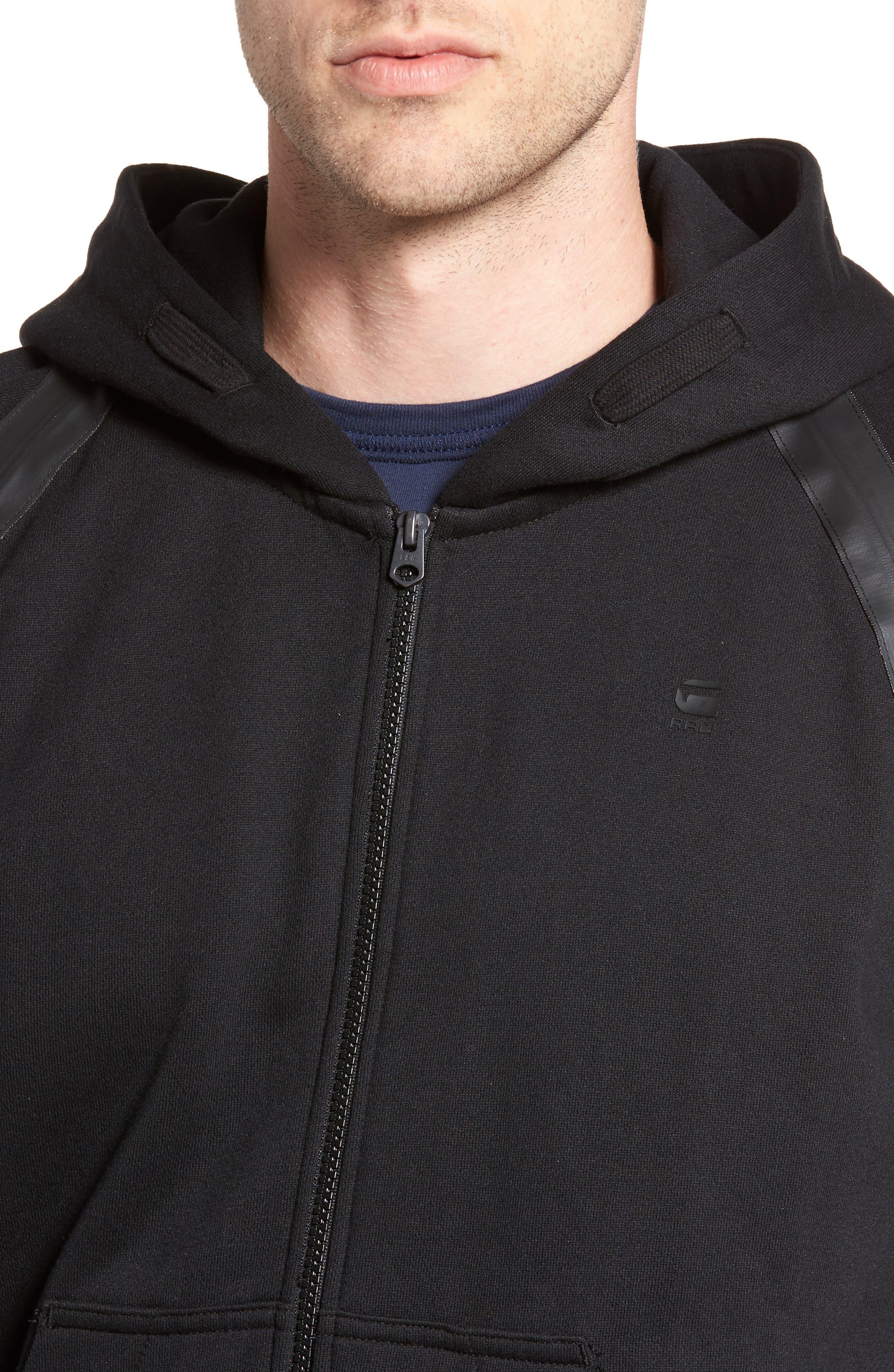 Alternate Image 4  - G-Star Raw Rackam Zip Hoodie with Faux Leather Trim